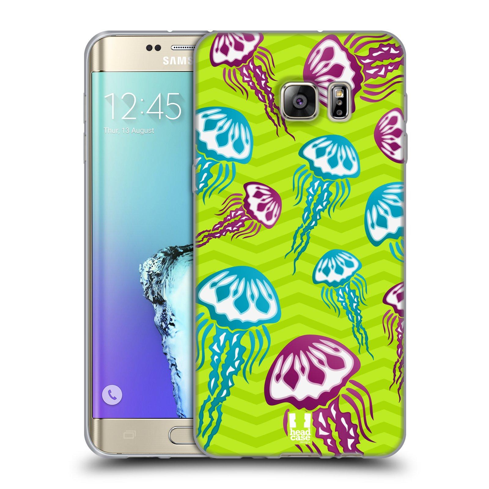 HEAD CASE silikonový obal na mobil Samsung Galaxy S6 EDGE PLUS vzor mořský živočich medůza