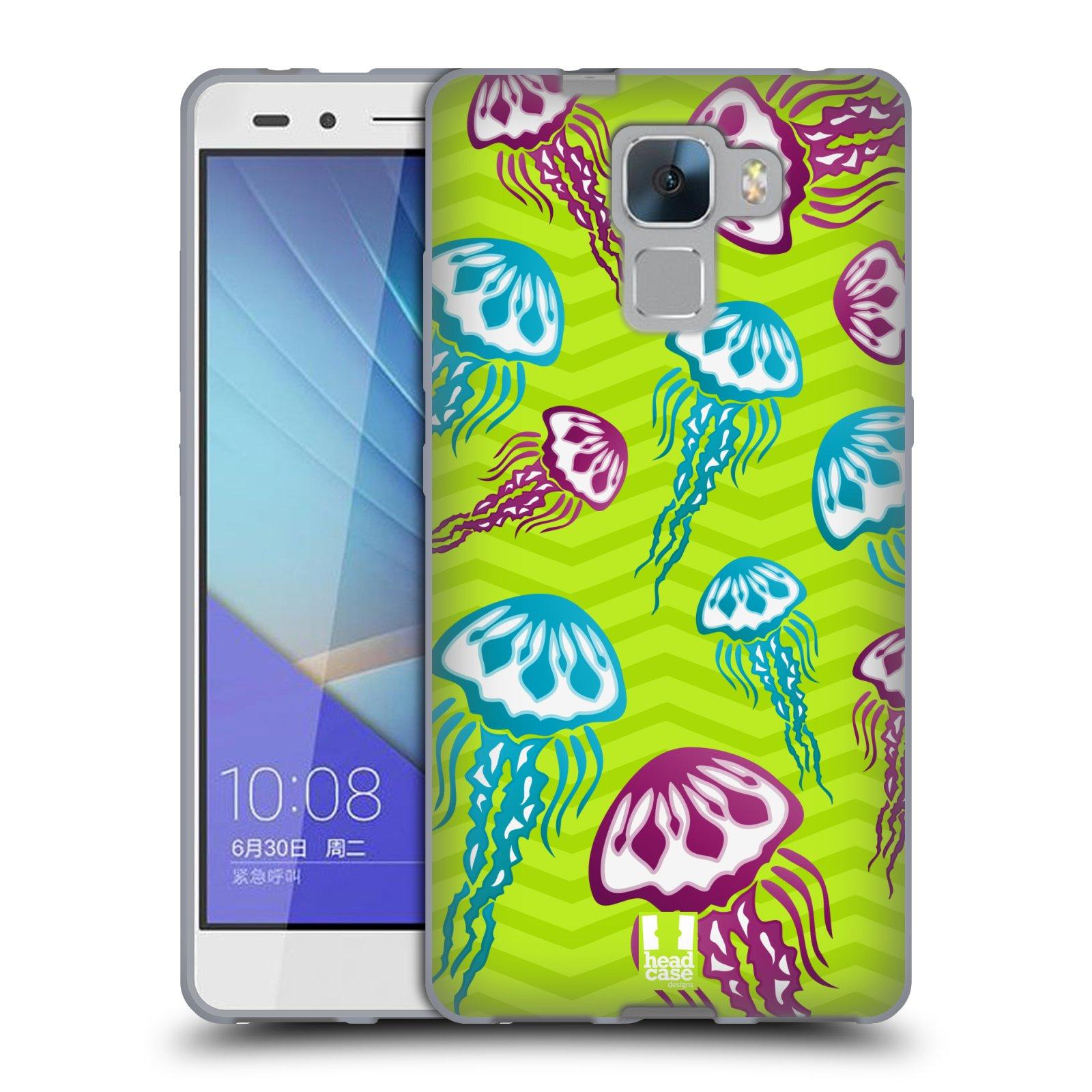 HEAD CASE silikonový obal na mobil HUAWEI HONOR 7 vzor mořský živočich medůza