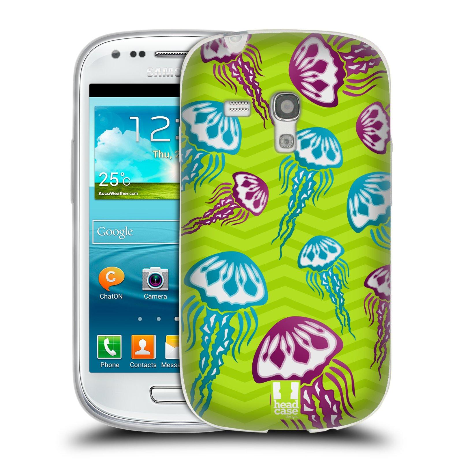 HEAD CASE silikonový obal na mobil Samsung Galaxy S3 MINI i8190 vzor mořský živočich medůza