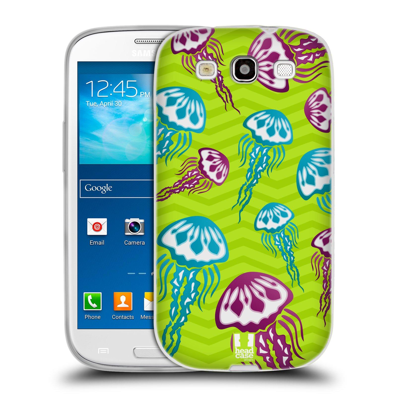 HEAD CASE silikonový obal na mobil Samsung Galaxy S3 i9300 vzor mořský živočich medůza