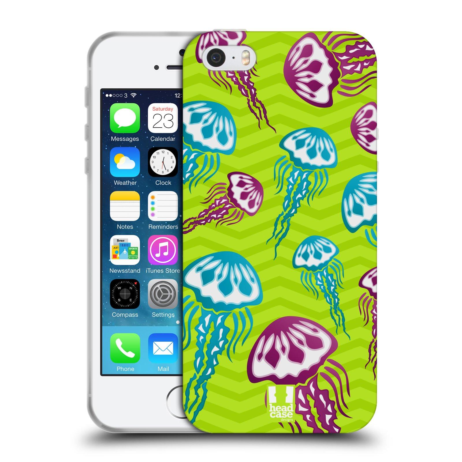 HEAD CASE silikonový obal na mobil Apple Iphone 5/5S vzor mořský živočich medůza