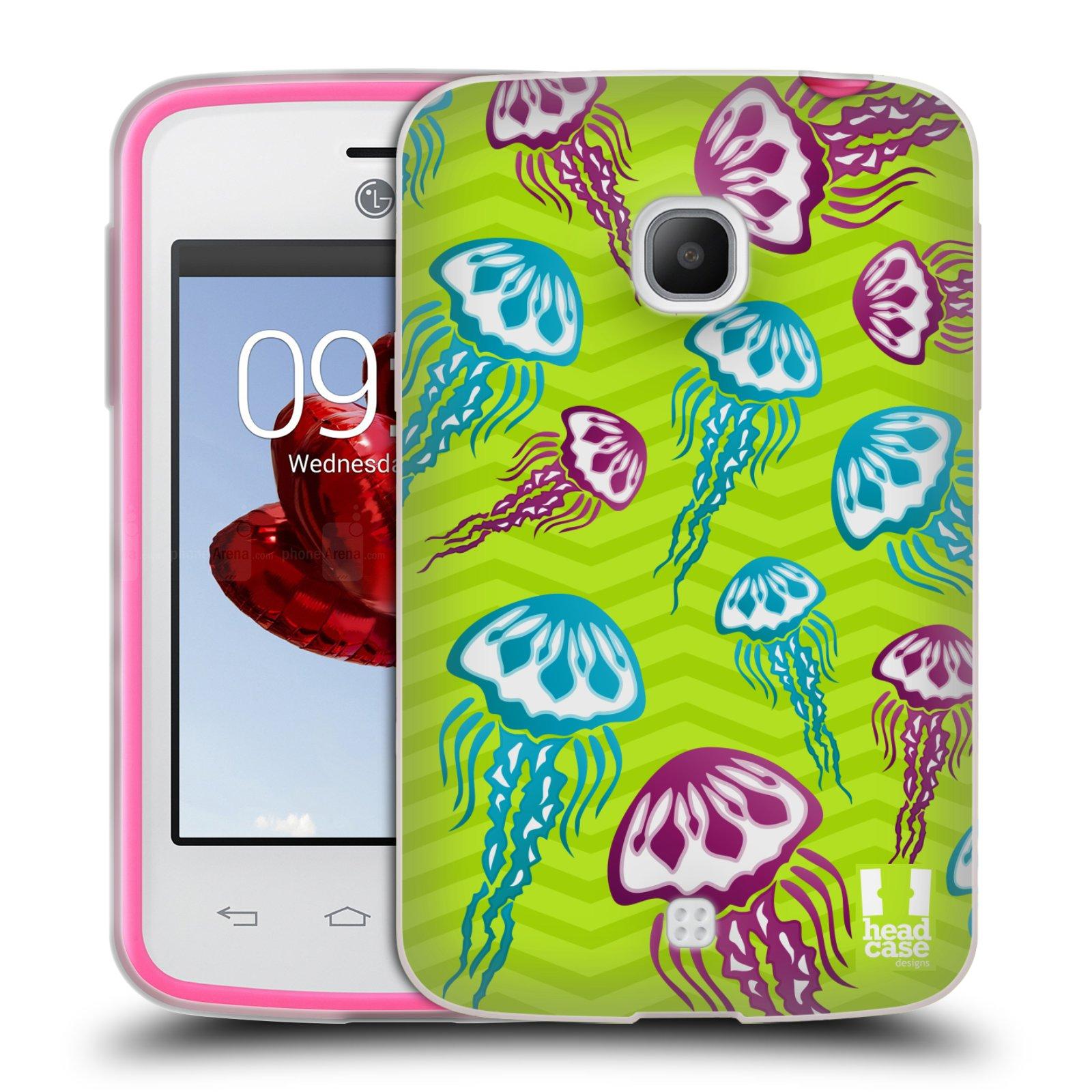 HEAD CASE silikonový obal na mobil LG L30 vzor mořský živočich medůza