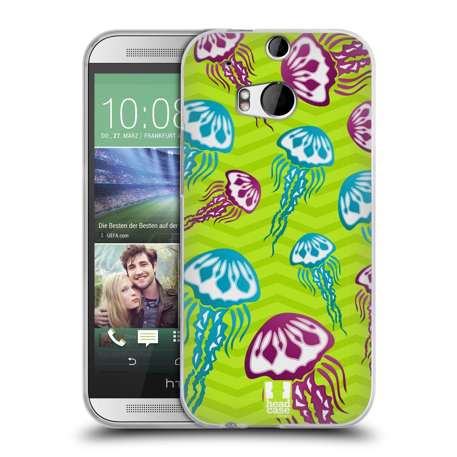 HEAD CASE silikonový obal na mobil HTC ONE (M8) vzor mořský živočich medůza