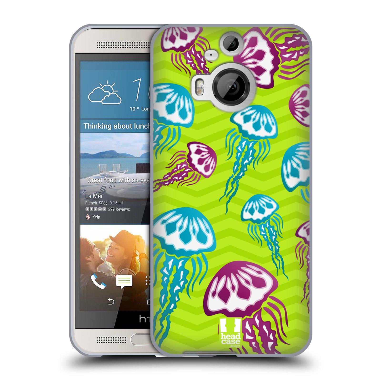 HEAD CASE silikonový obal na mobil HTC ONE M9+(PLUS) vzor mořský živočich medůza