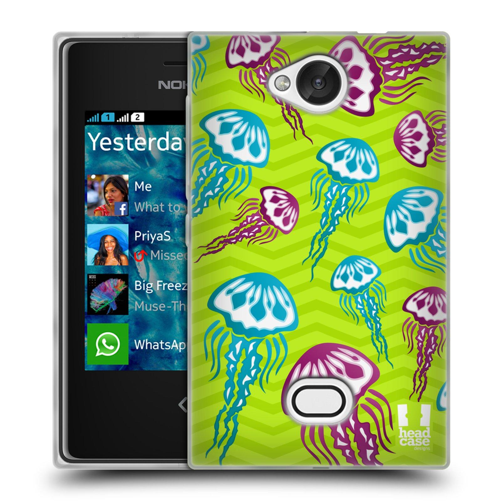 HEAD CASE silikonový obal na mobil NOKIA Asha 503 vzor mořský živočich medůza
