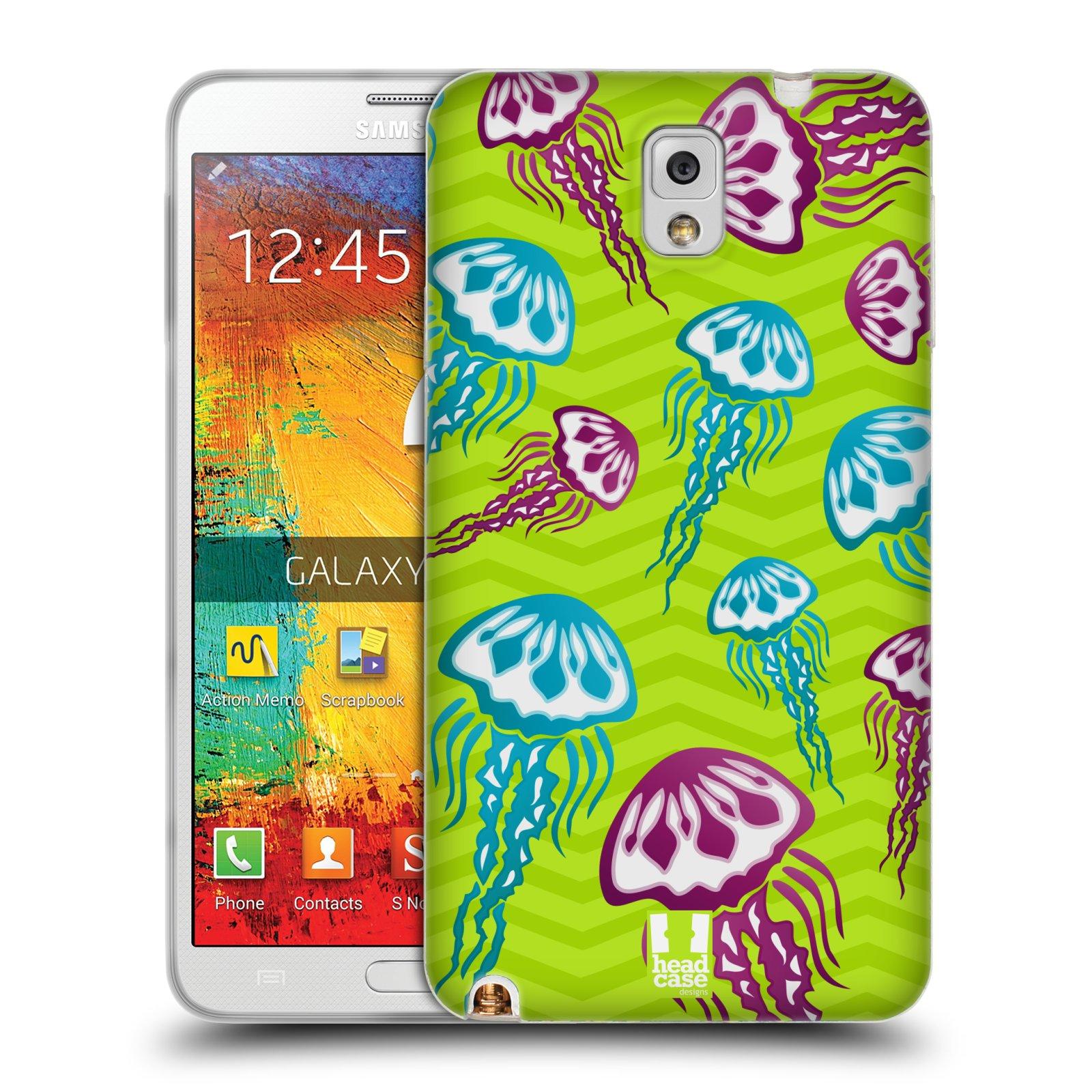 HEAD CASE silikonový obal na mobil Samsung Galaxy Note 3 (N9005) vzor mořský živočich medůza