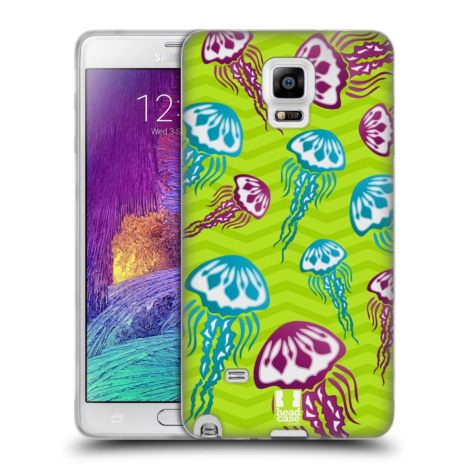 HEAD CASE silikonový obal na mobil Samsung Galaxy Note 4 (N910) vzor mořský živočich medůza