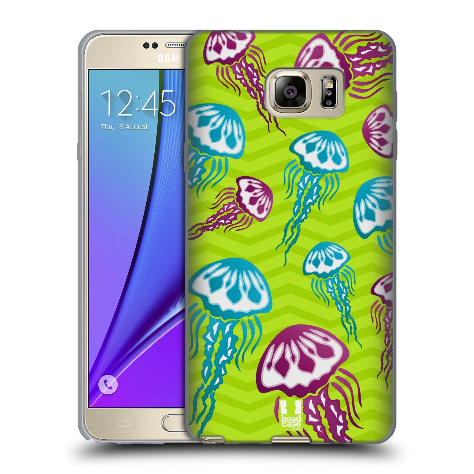 HEAD CASE silikonový obal na mobil Samsung Galaxy Note 5 (N920) vzor mořský živočich medůza