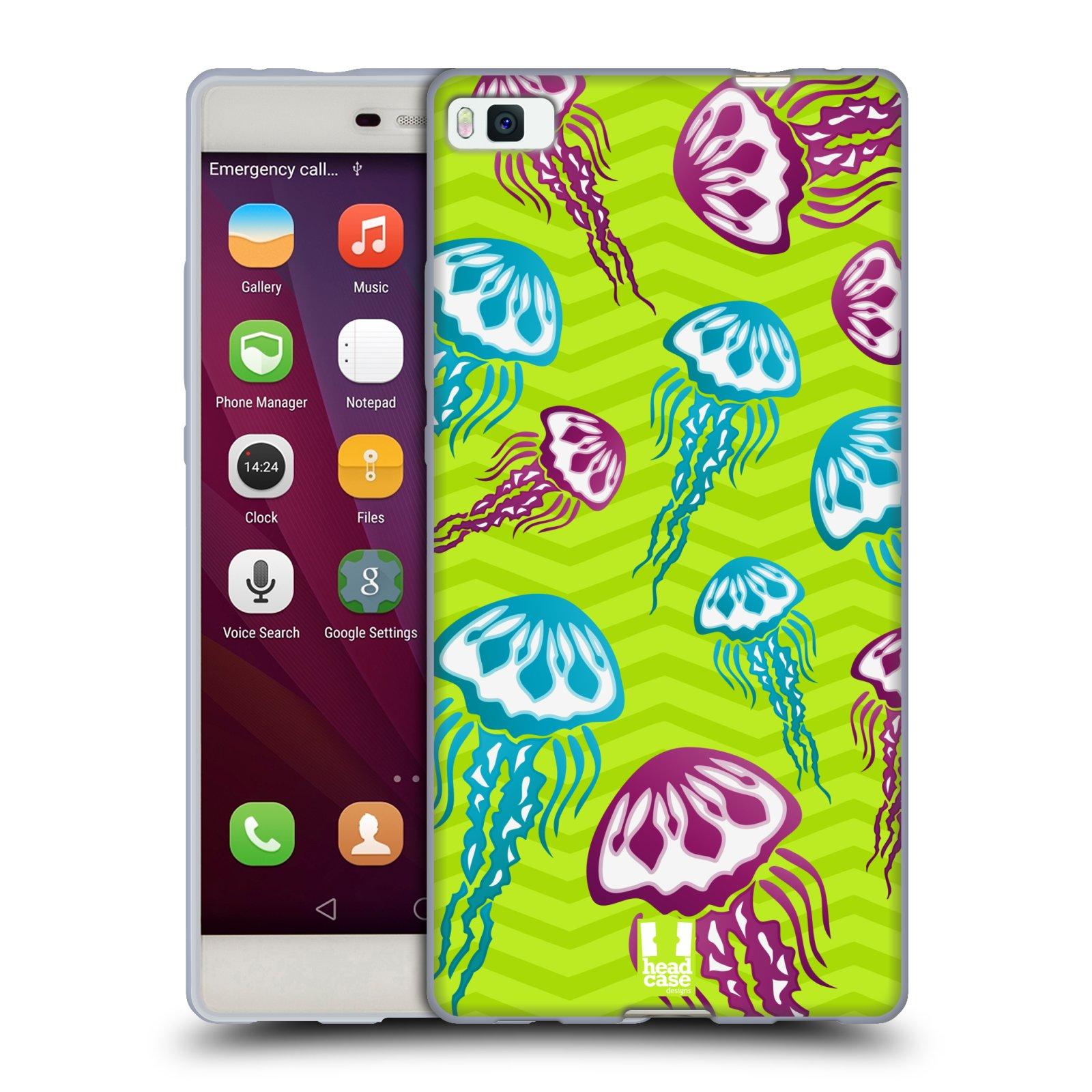 HEAD CASE silikonový obal na mobil HUAWEI P8 vzor mořský živočich medůza