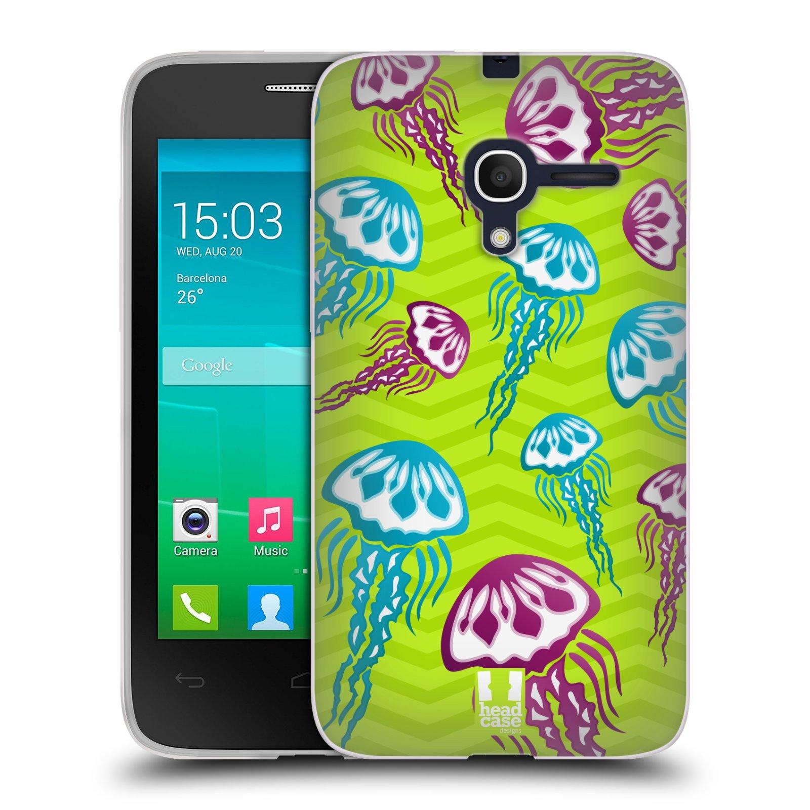 HEAD CASE silikonový obal na mobil Alcatel POP D3 OT-4035D vzor mořský živočich medůza