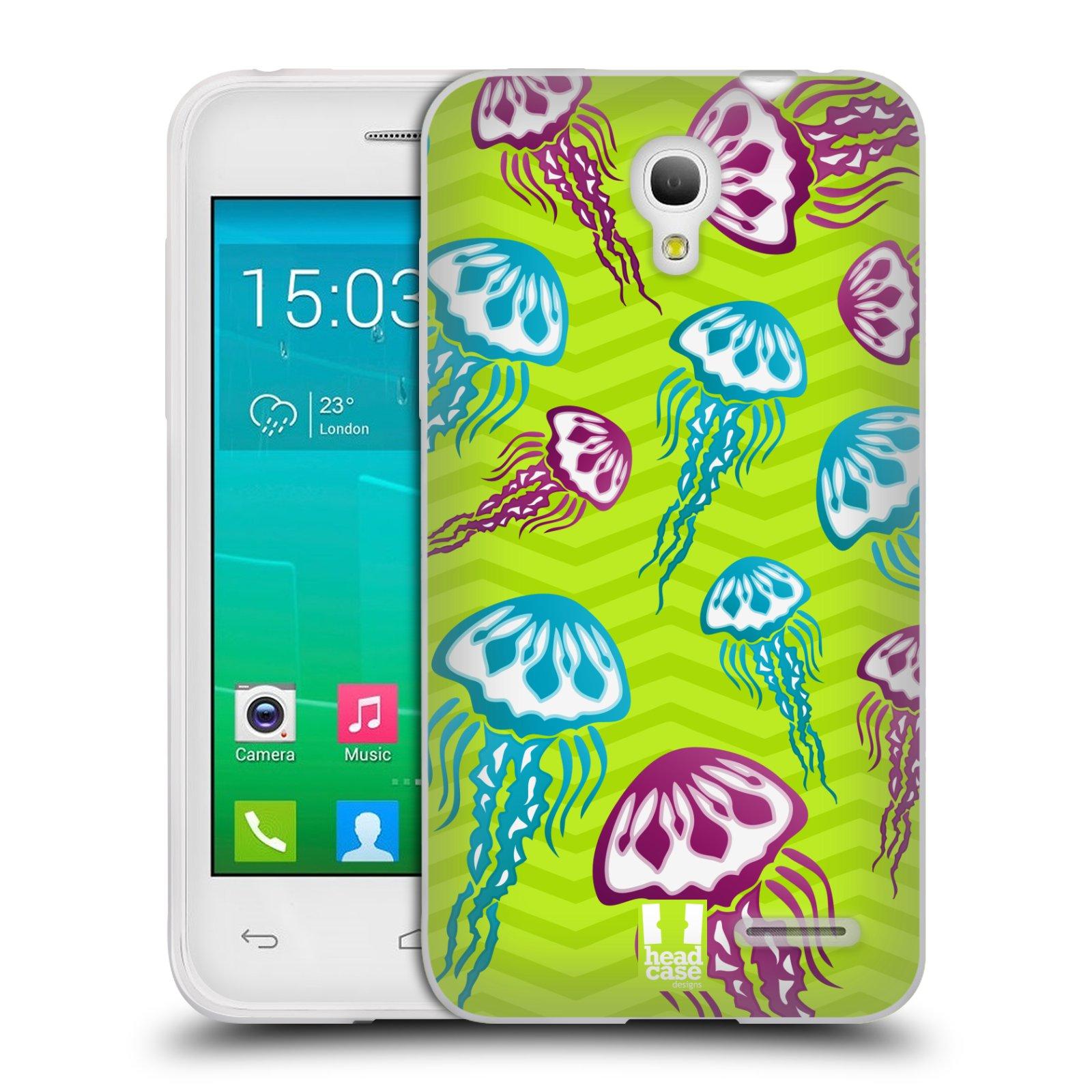 HEAD CASE silikonový obal na mobil Alcatel POP S3 OT-5050Y vzor mořský živočich medůza