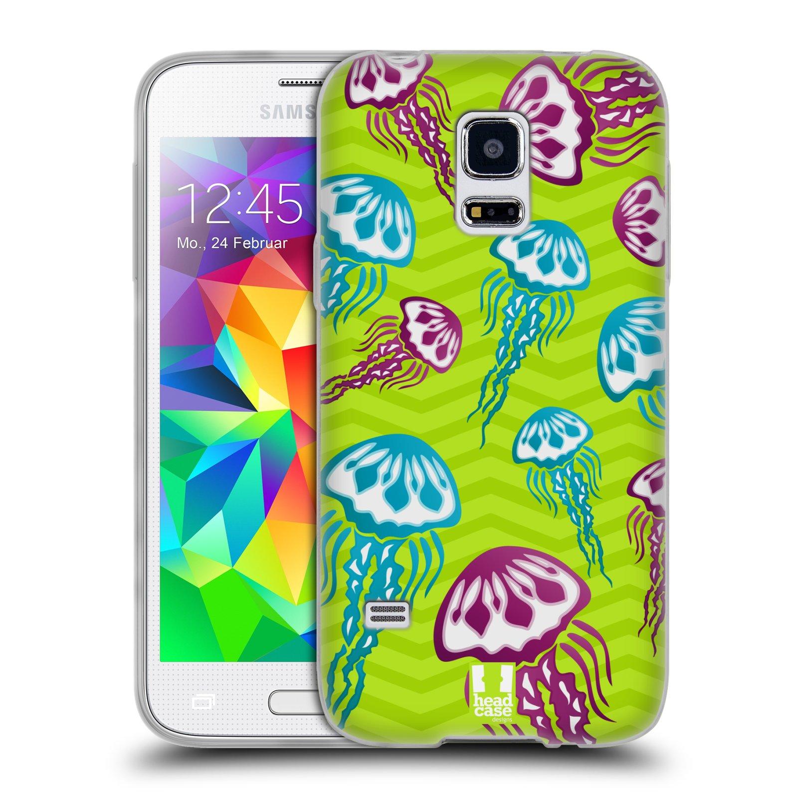 HEAD CASE silikonový obal na mobil Samsung Galaxy S5 MINI vzor mořský živočich medůza