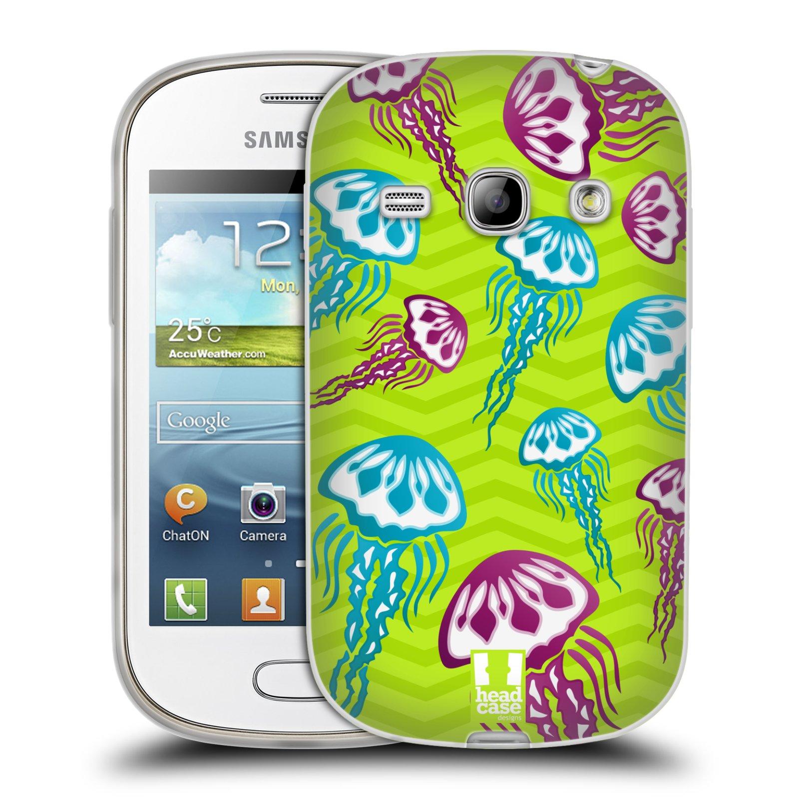 HEAD CASE silikonový obal na mobil Samsung Galaxy FAME vzor mořský živočich medůza