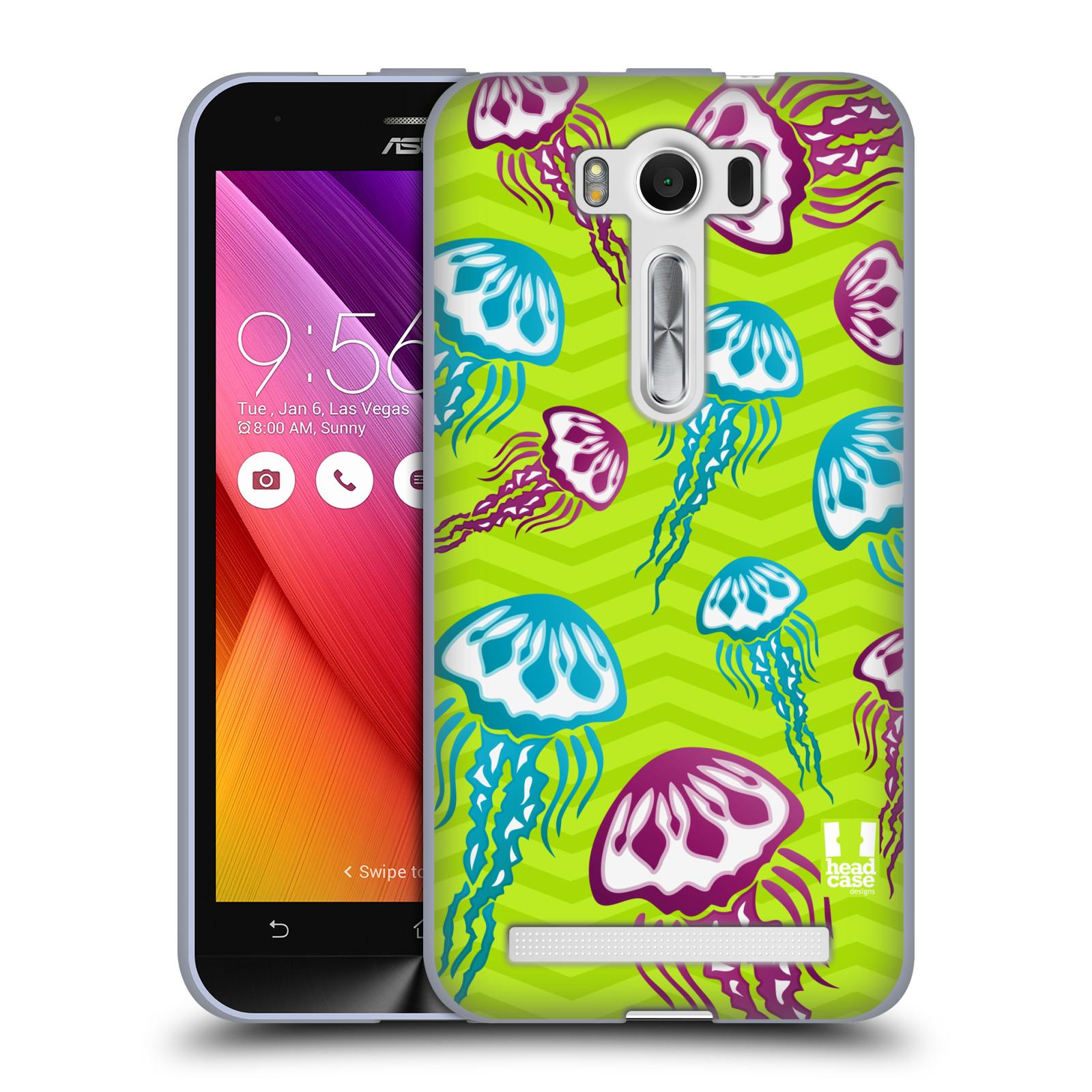 """HEAD CASE silikonový obal na mobil Asus Zenfone 2 LASER (ZE500KL s 5"""" displejem) vzor mořský živočich medůza"""