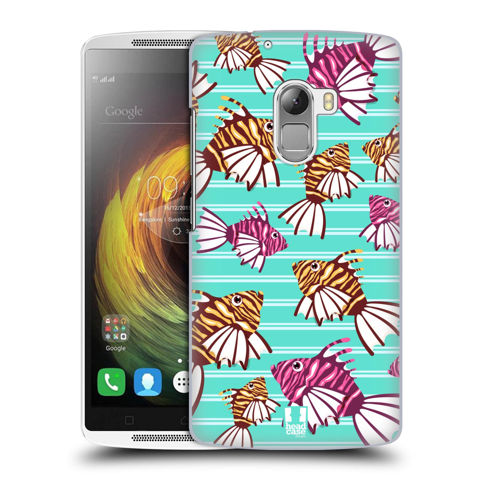 HEAD CASE pevný plastový obal na mobil LENOVO A7010 / A7010 DUAL / K4 Note / Vibe X3 lite vzor mořský živočich ryba