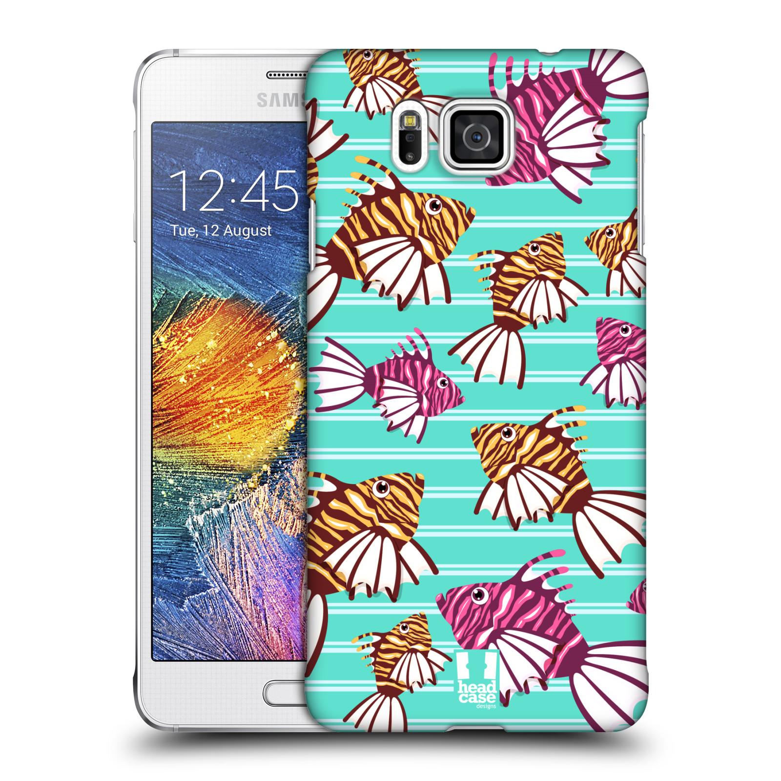 HEAD CASE plastový obal na mobil SAMSUNG Galaxy Alpha (G850) vzor mořský živočich ryba