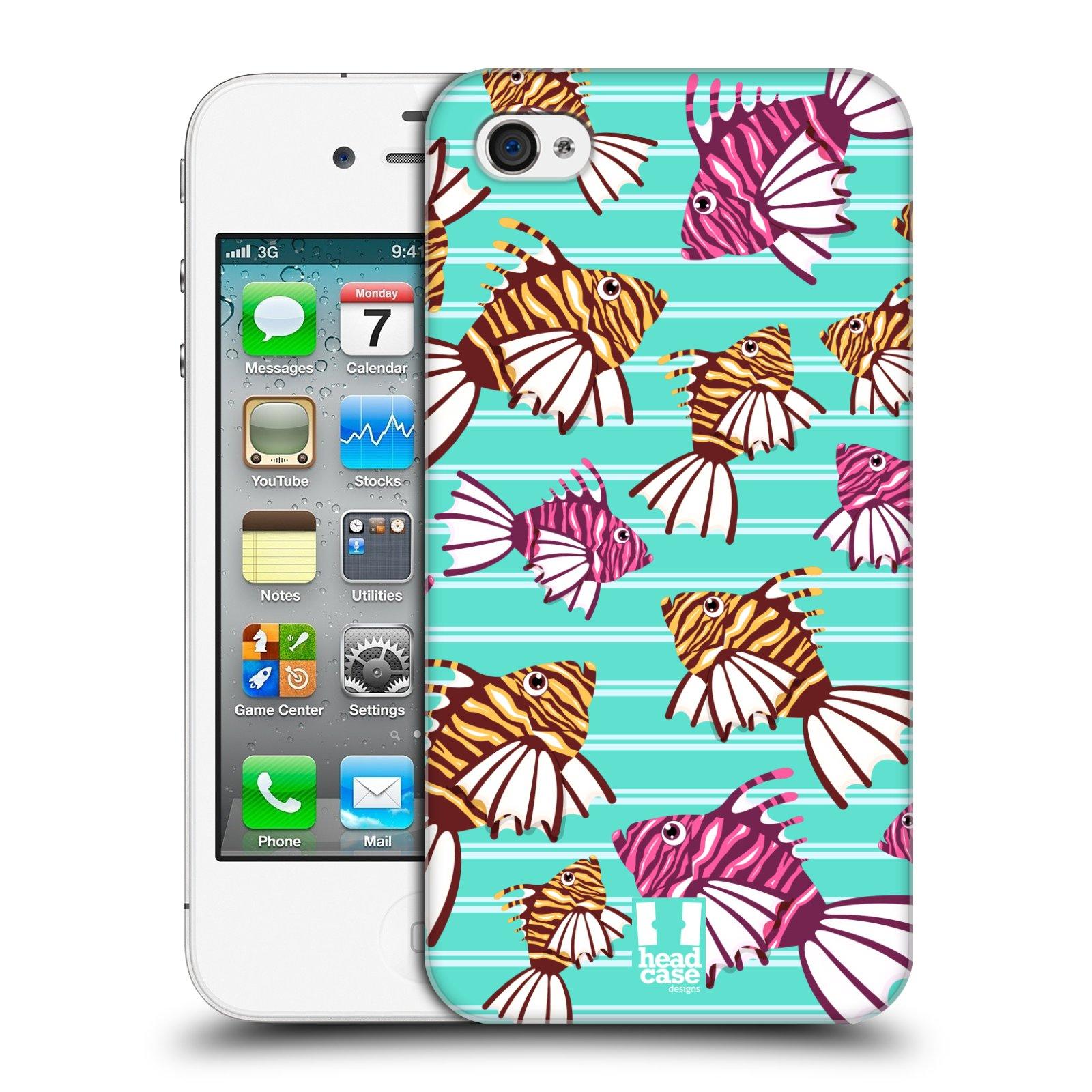 HEAD CASE plastový obal na mobil Apple Iphone 4/4S vzor mořský živočich ryba