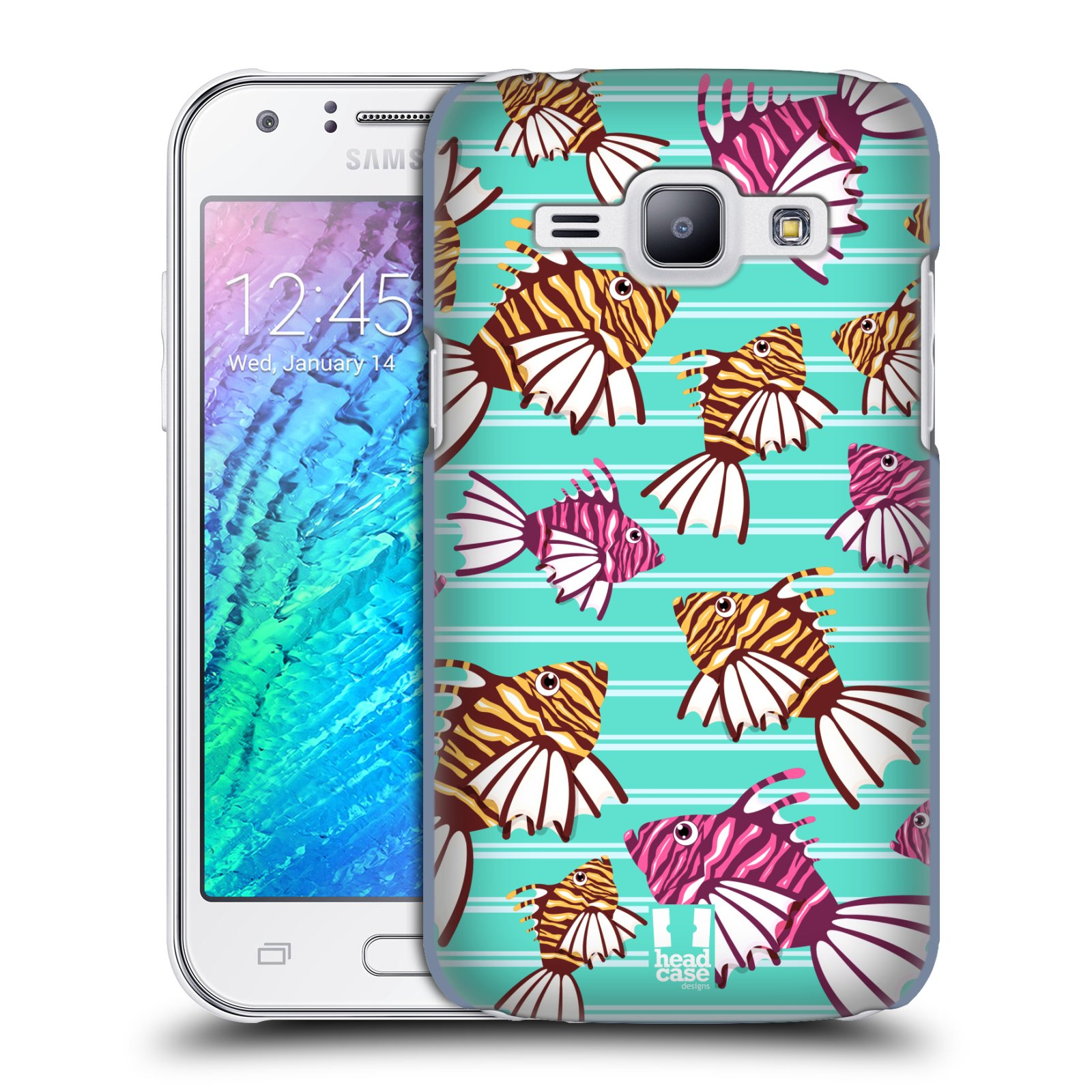 HEAD CASE plastový obal na mobil SAMSUNG Galaxy J1, J100 vzor mořský živočich ryba