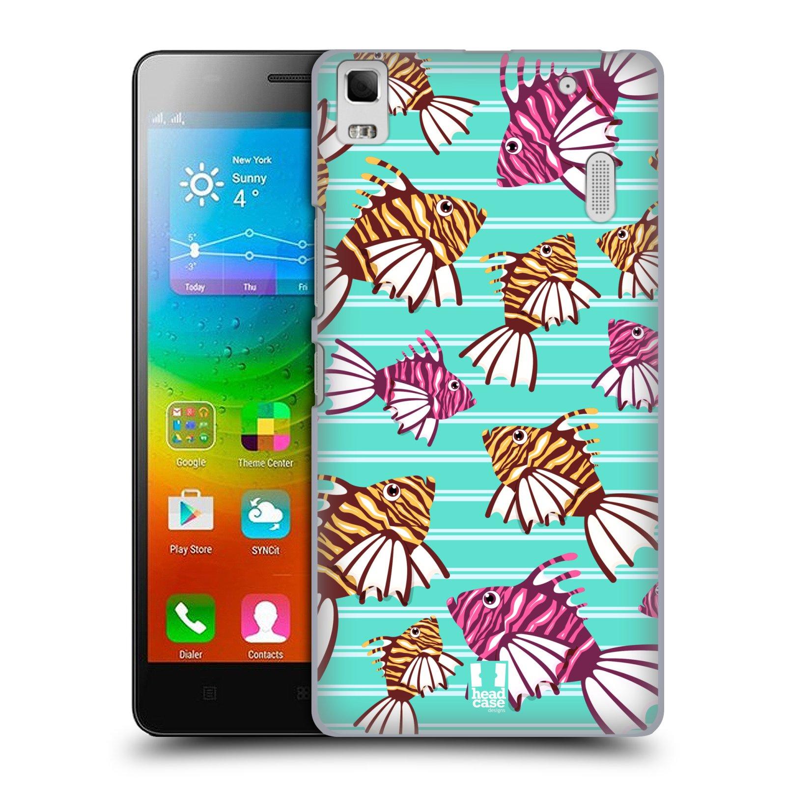 HEAD CASE pevný plastový obal na mobil LENOVO A7000 / A7000 DUAL / K3 NOTE vzor mořský živočich ryba