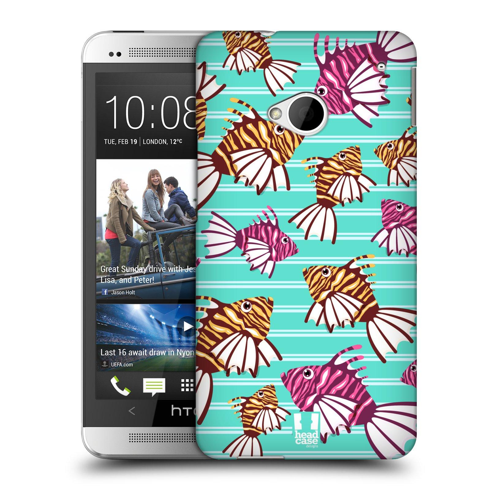 HEAD CASE plastový obal na mobil HTC One (M7) vzor mořský živočich ryba