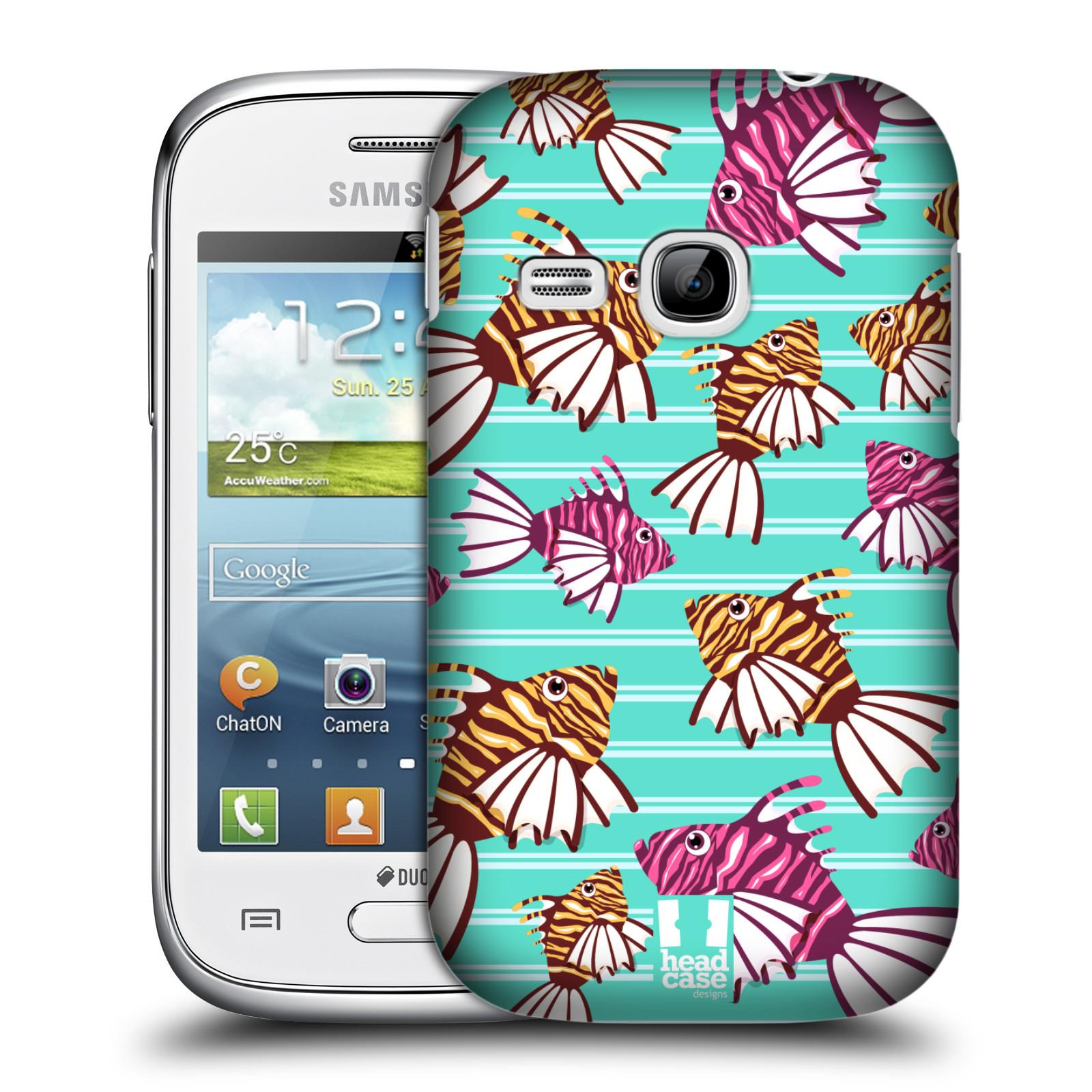 HEAD CASE plastový obal na mobil SAMSUNG Galaxy Young S6310 vzor mořský živočich ryba