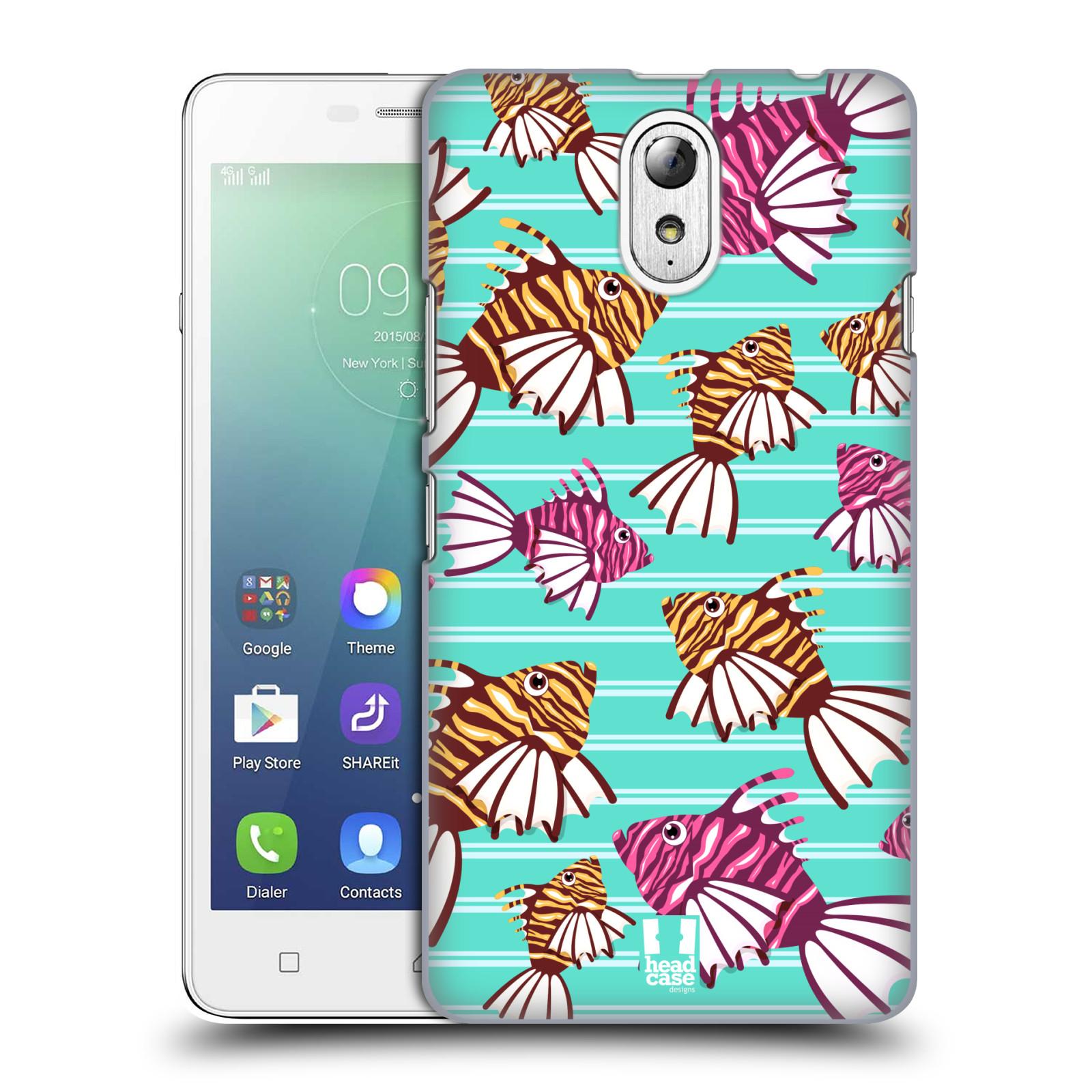 HEAD CASE pevný plastový obal na mobil LENOVO VIBE P1m / LENOVO VIBE p1m DUAL SIM vzor mořský živočich ryba