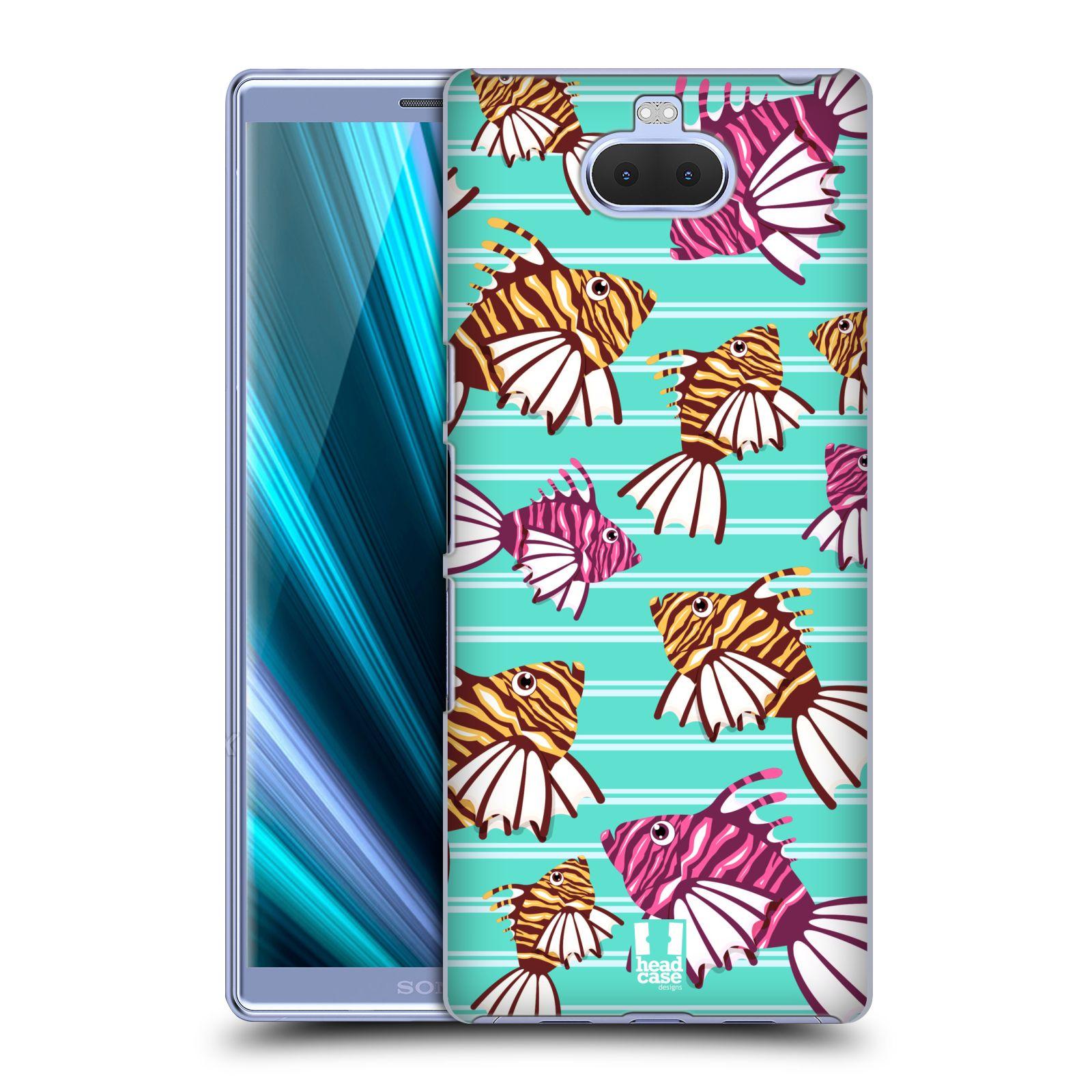 Pouzdro na mobil Sony Xperia 10 - Head Case - vzor mořský živočich ryba
