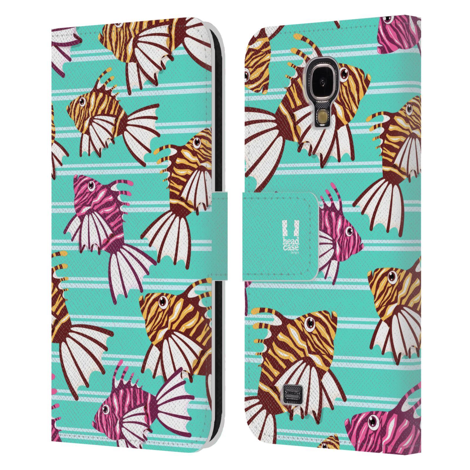 HEAD CASE Flipové pouzdro pro mobil Samsung Galaxy S4 Mořský živočich ryba modrá barva