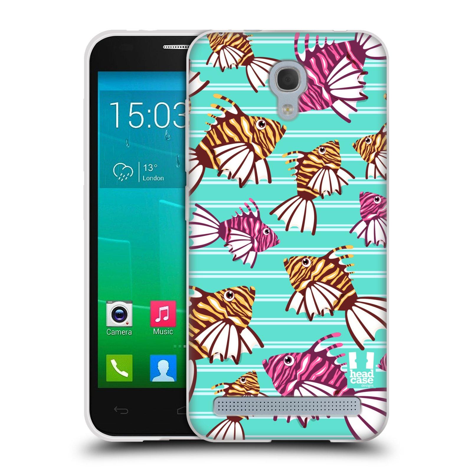 HEAD CASE silikonový obal na mobil Alcatel Idol 2 MINI S 6036Y vzor mořský živočich ryba