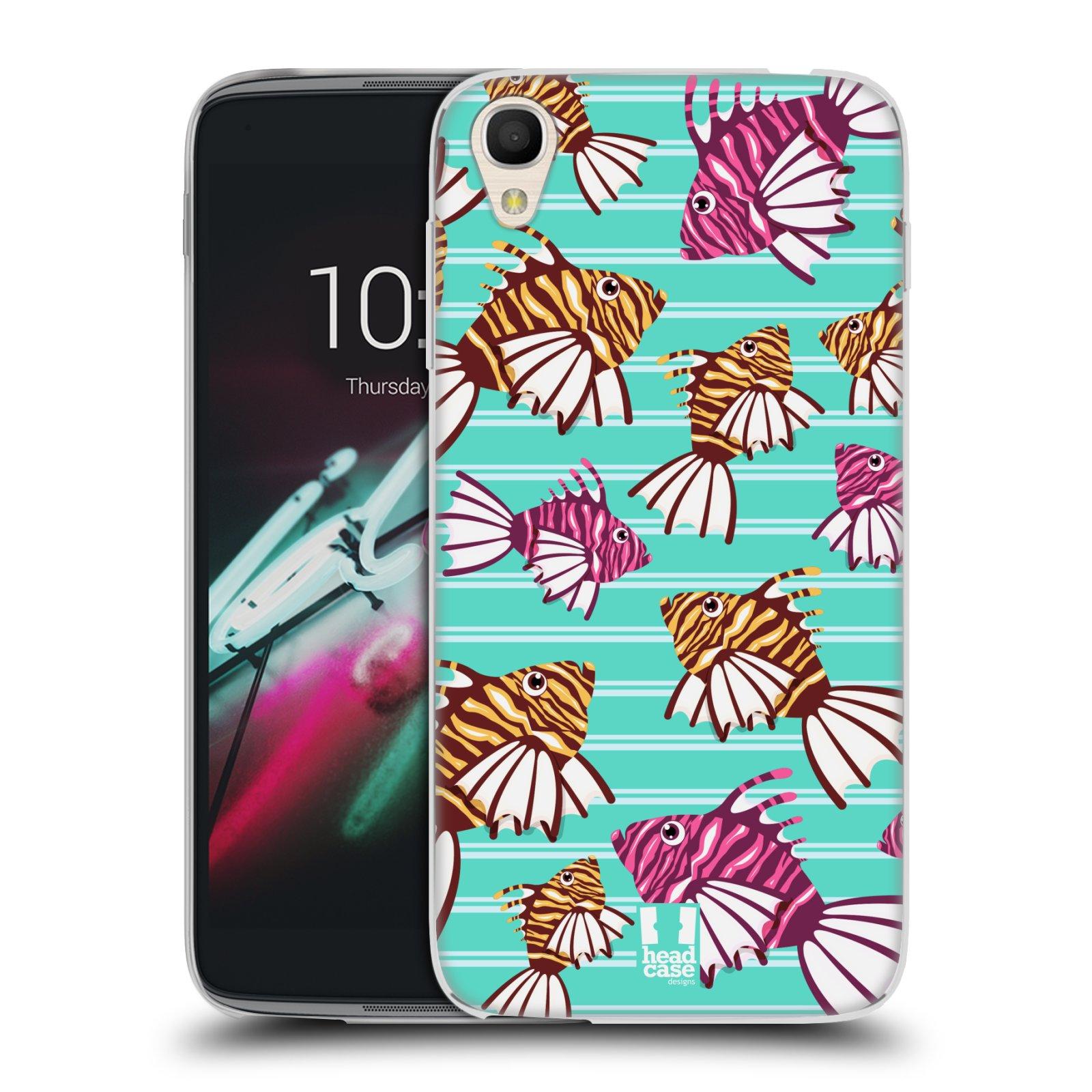 HEAD CASE silikonový obal na mobil Alcatel Idol 3 OT-6039Y (4.7) vzor mořský živočich ryba