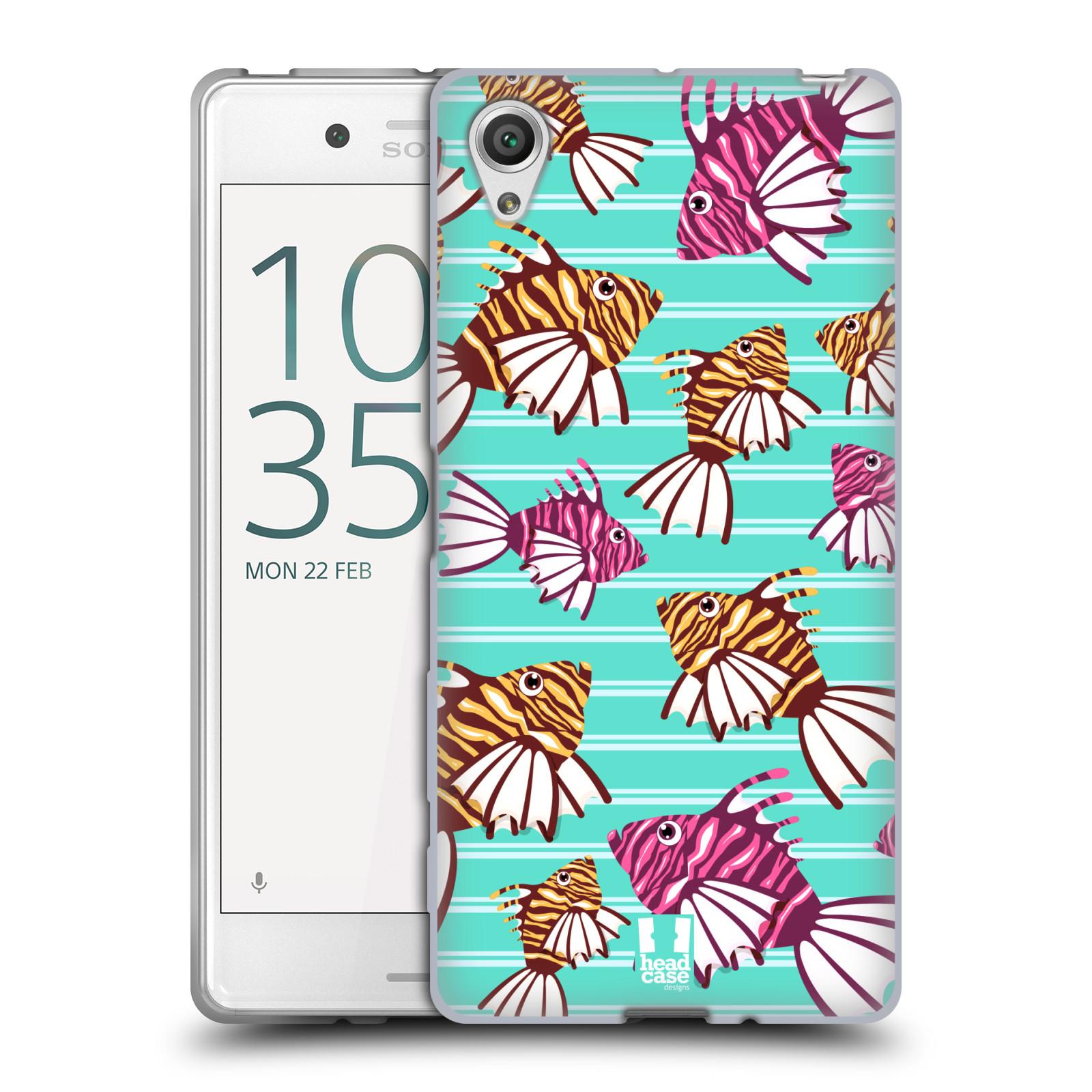HEAD CASE silikonový obal na mobil Sony Xperia X / X DUAL vzor mořský živočich ryba