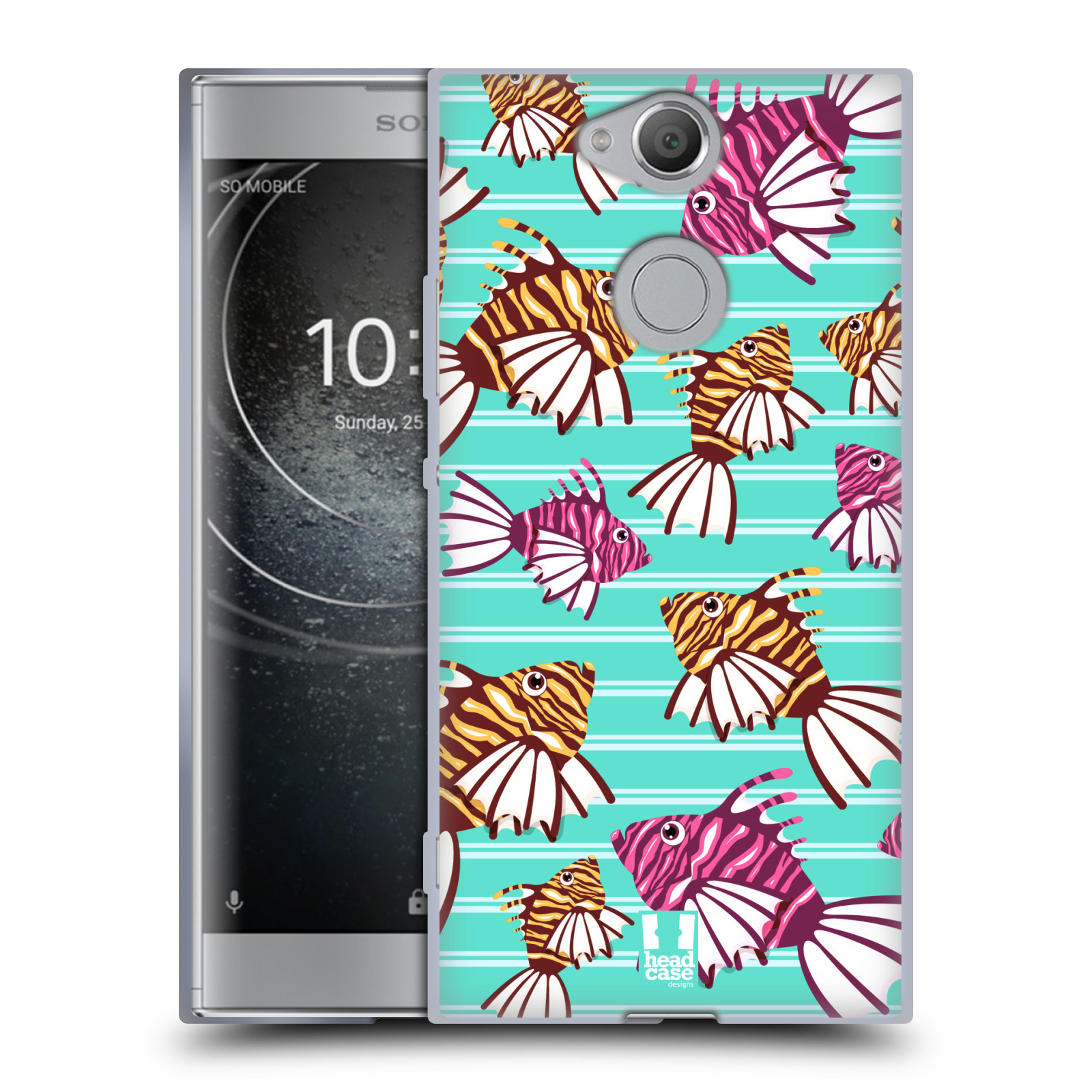 Pouzdro na mobil Sony Xperia XA2 (DUAL SIM, SINGLE SIM) vzor mořský živočich ryba
