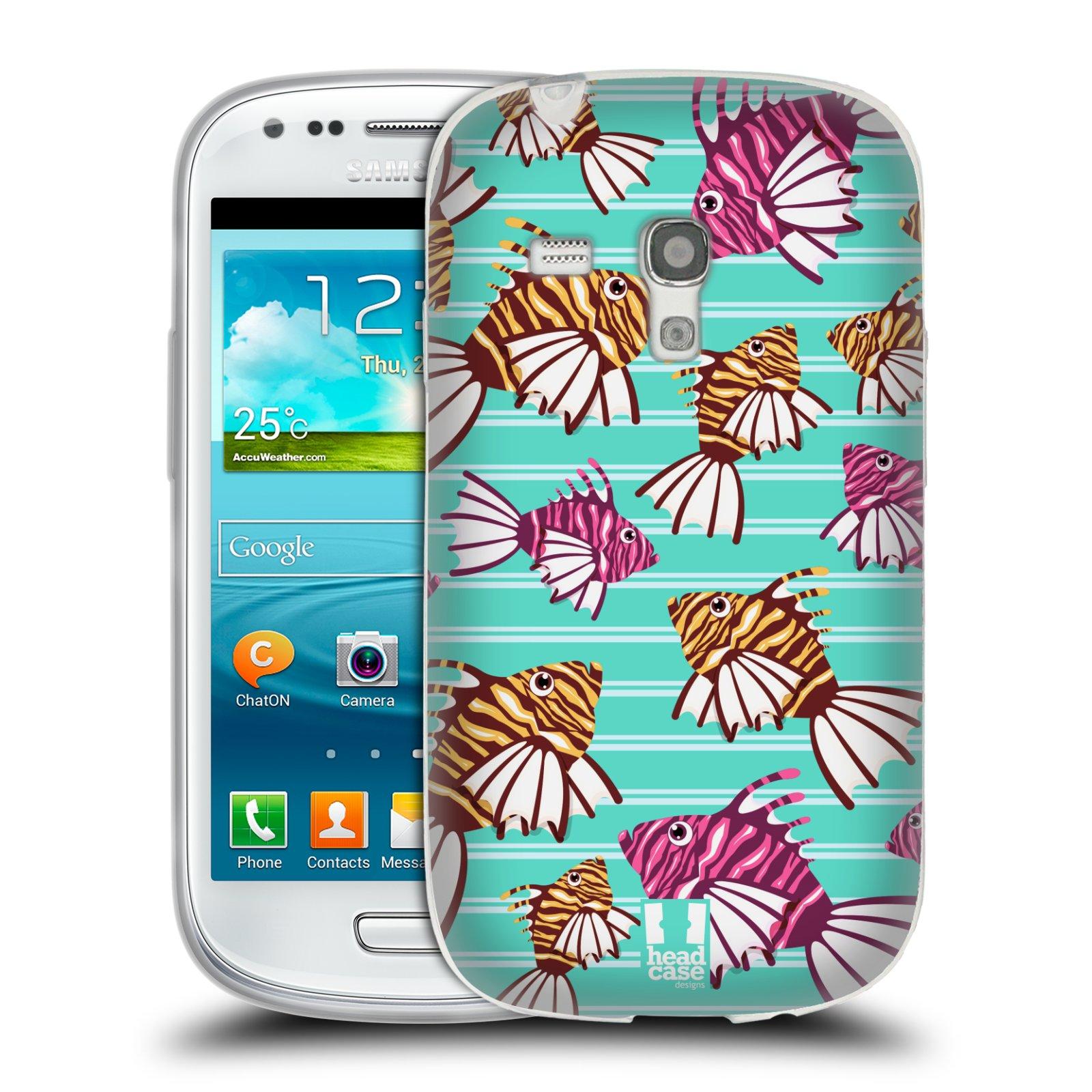 HEAD CASE silikonový obal na mobil Samsung Galaxy S3 MINI i8190 vzor mořský živočich ryba