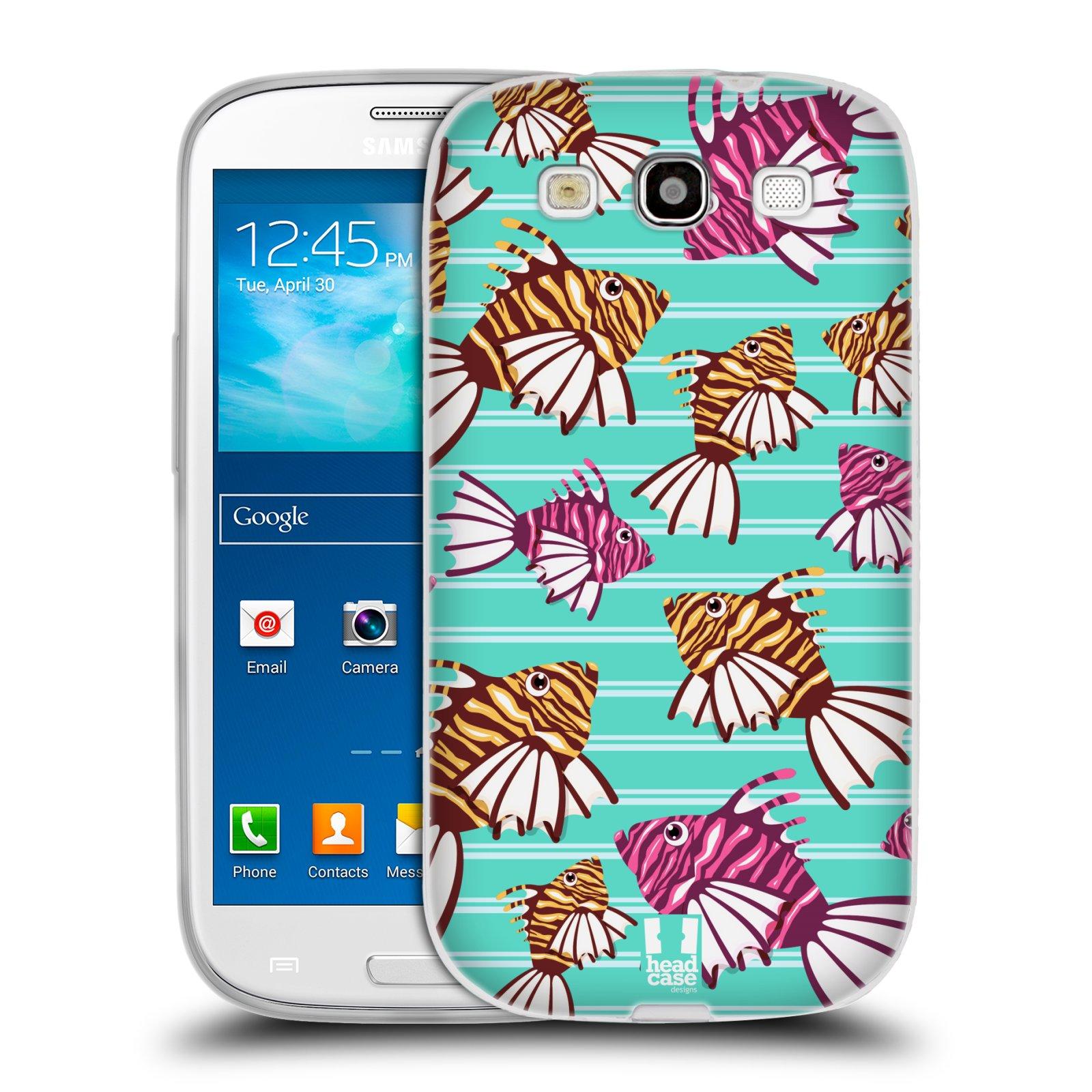 HEAD CASE silikonový obal na mobil Samsung Galaxy S3 i9300 vzor mořský živočich ryba