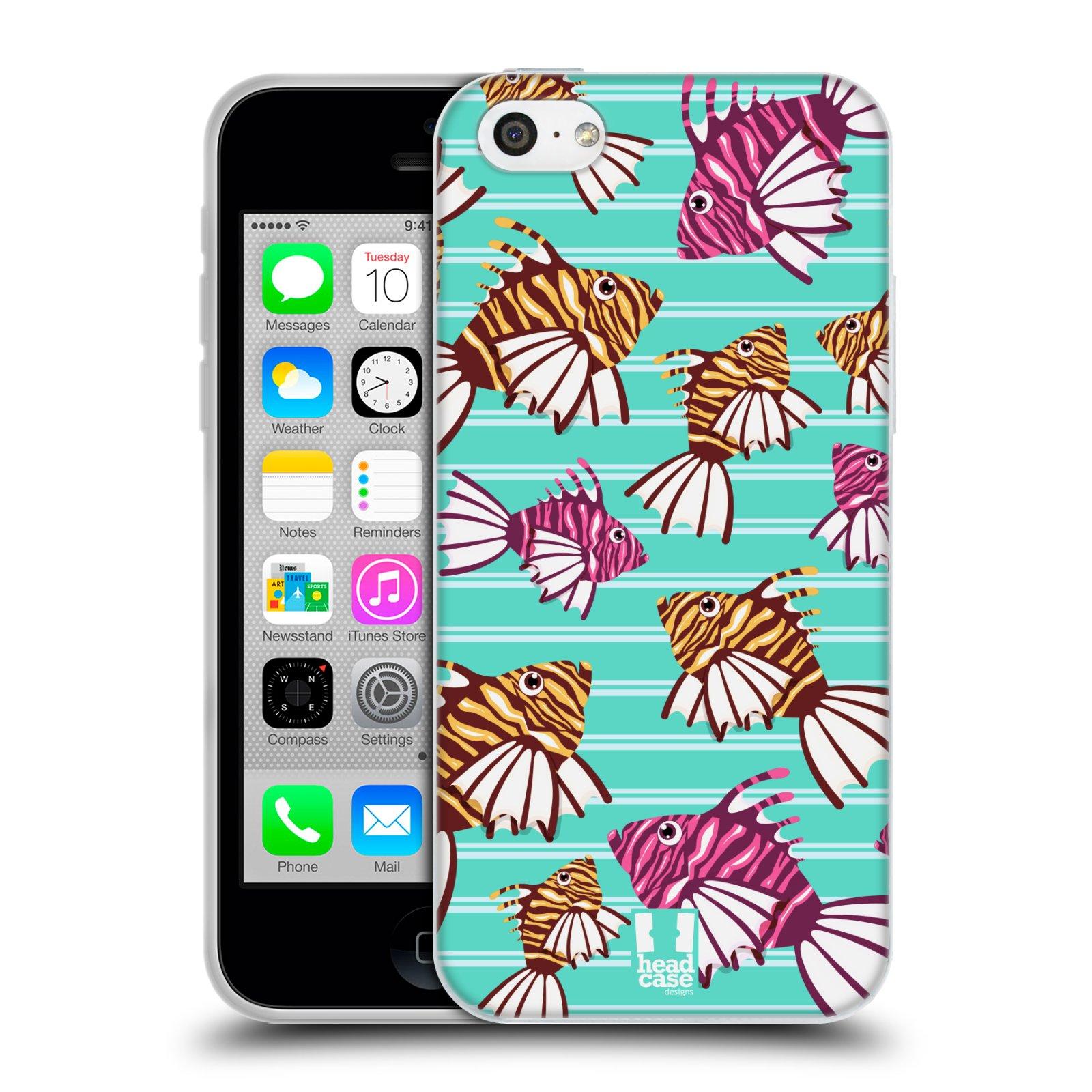 HEAD CASE silikonový obal na mobil Apple Iphone 5C vzor mořský živočich ryba