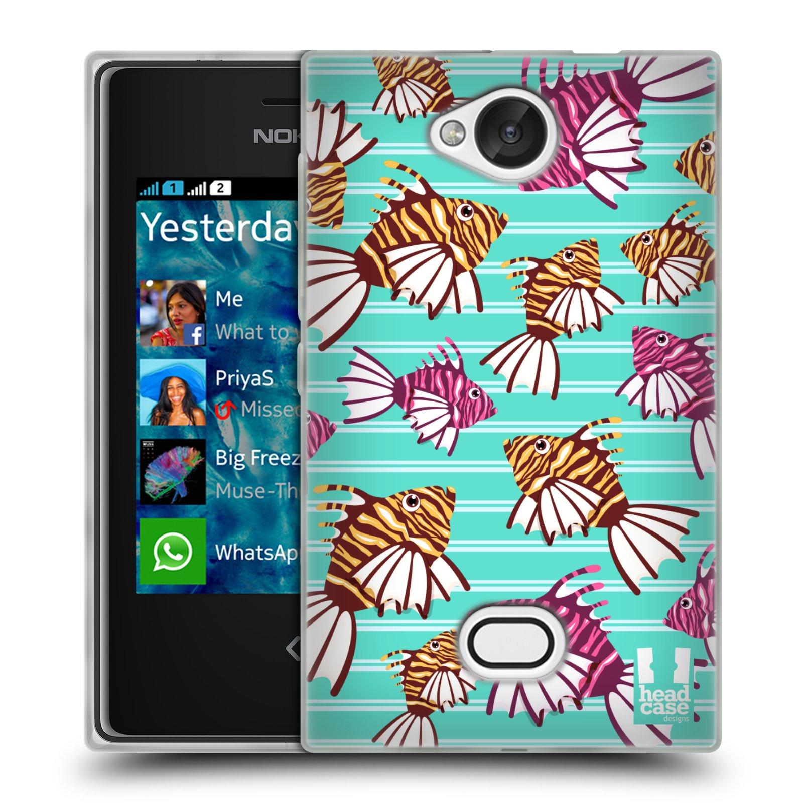 HEAD CASE silikonový obal na mobil NOKIA Asha 503 vzor mořský živočich ryba