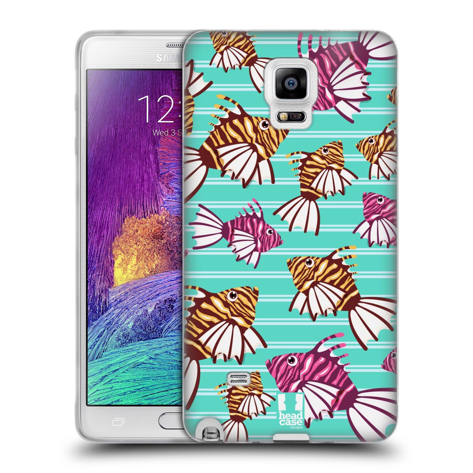 HEAD CASE silikonový obal na mobil Samsung Galaxy Note 4 (N910) vzor mořský živočich ryba