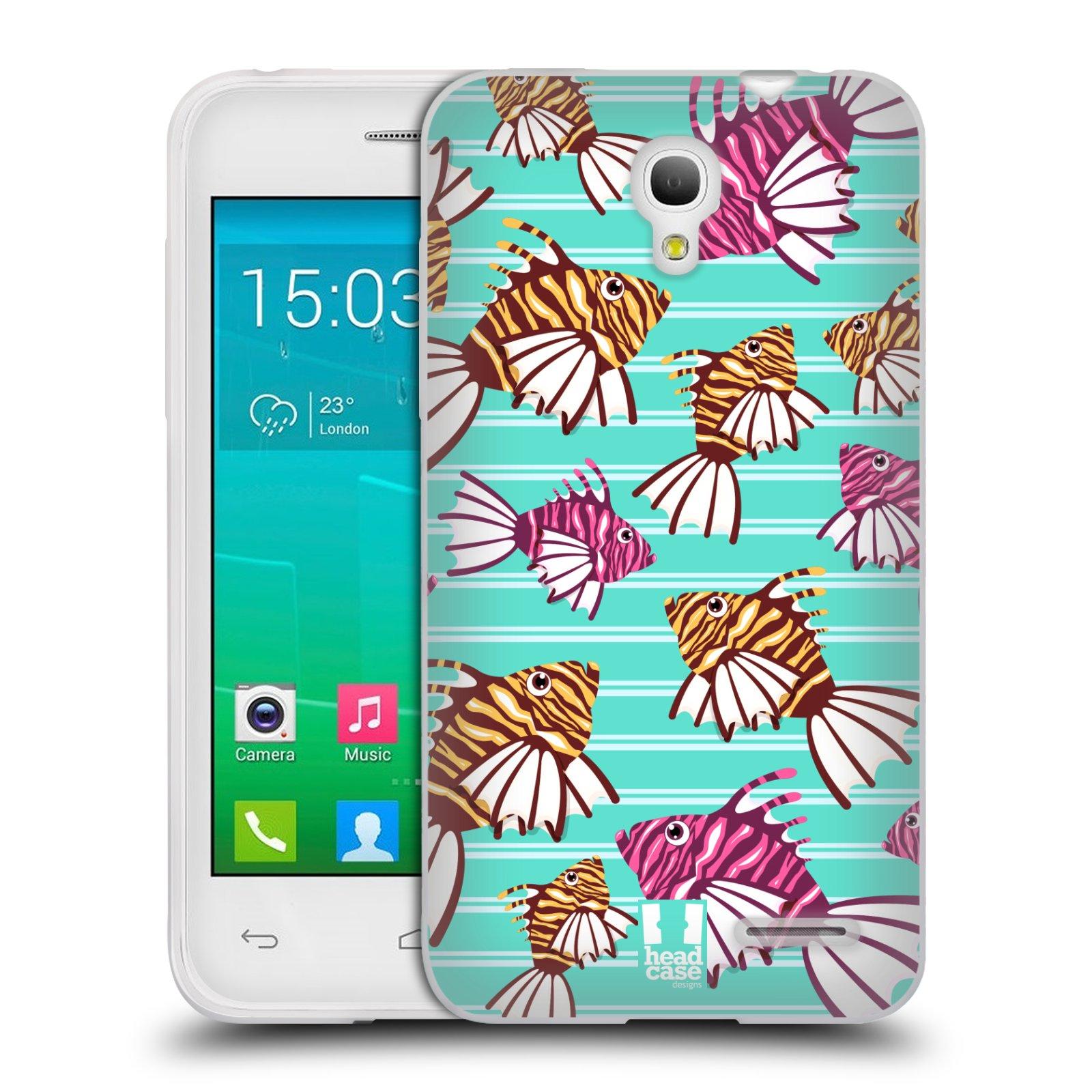 HEAD CASE silikonový obal na mobil Alcatel POP S3 OT-5050Y vzor mořský živočich ryba