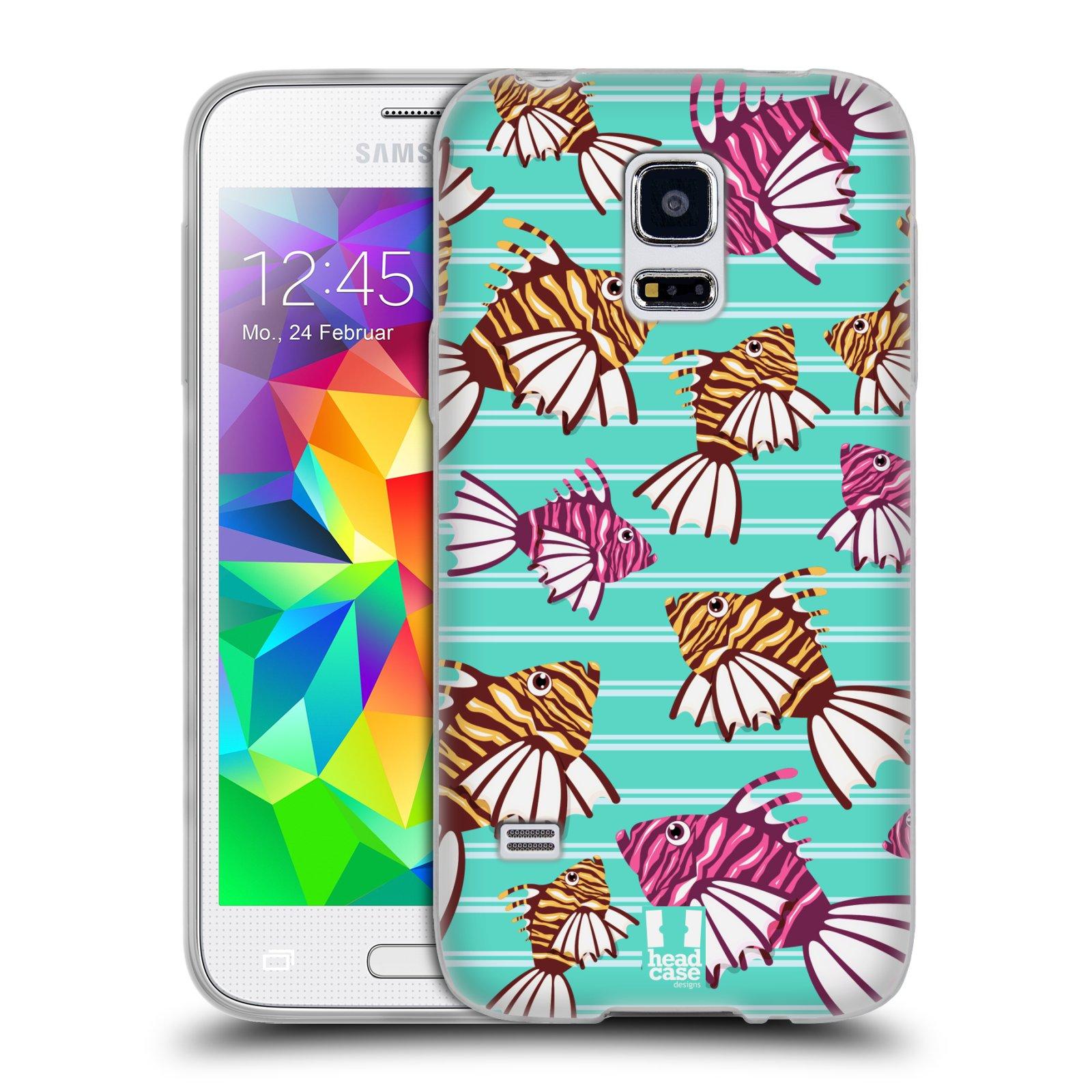 HEAD CASE silikonový obal na mobil Samsung Galaxy S5 MINI vzor mořský živočich ryba