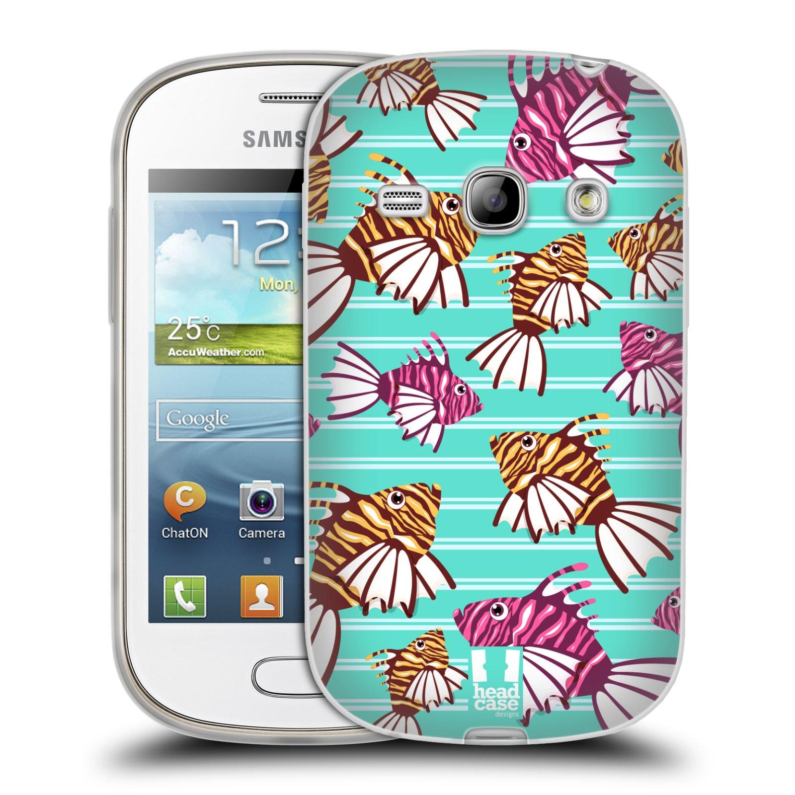 HEAD CASE silikonový obal na mobil Samsung Galaxy FAME vzor mořský živočich ryba