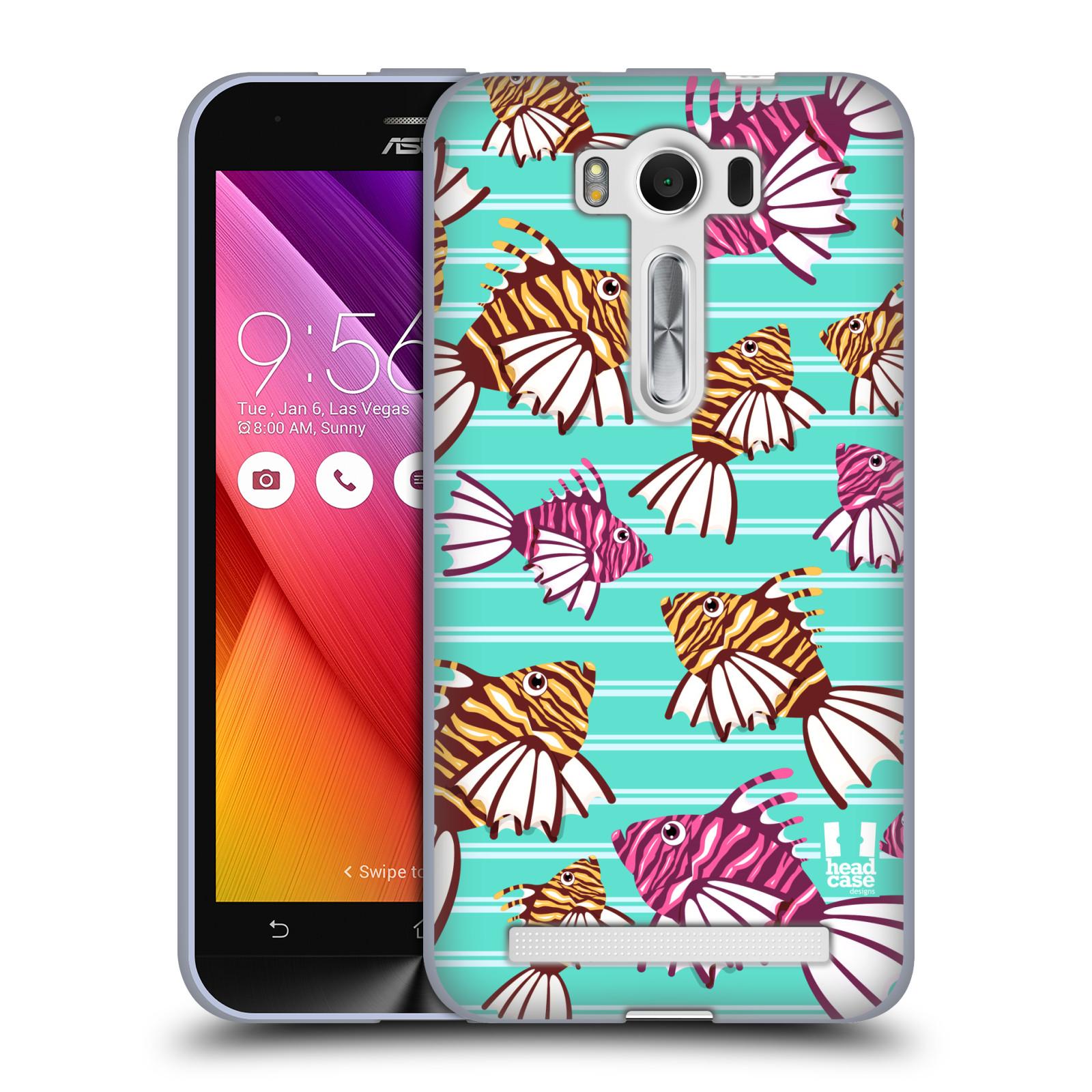 """HEAD CASE silikonový obal na mobil Asus Zenfone 2 LASER (ZE500KL s 5"""" displejem) vzor mořský živočich ryba"""