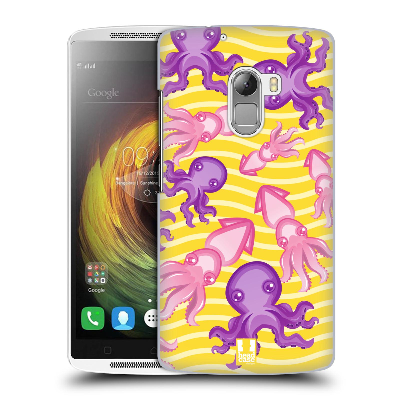 HEAD CASE pevný plastový obal na mobil LENOVO A7010 / A7010 DUAL / K4 Note / Vibe X3 lite vzor mořský živočich chobotnice