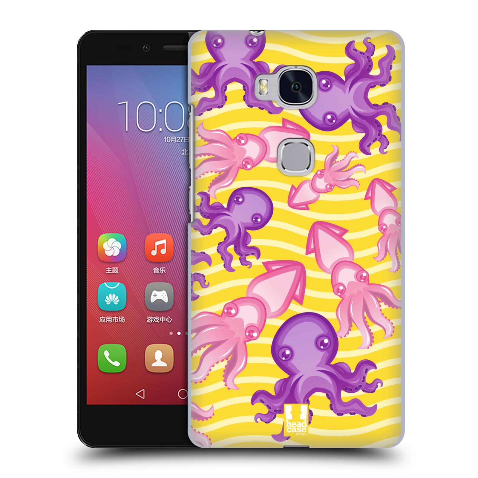 HEAD CASE pevný plastový obal na mobil HUAWEI HONOR 5X vzor mořský živočich chobotnice