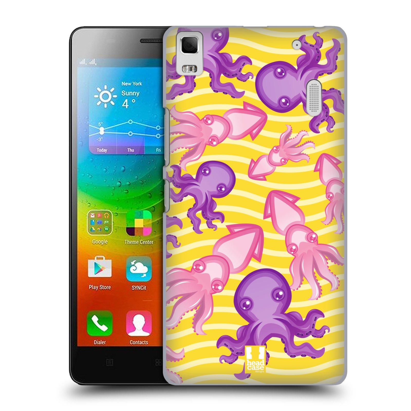 HEAD CASE pevný plastový obal na mobil LENOVO A7000 / A7000 DUAL / K3 NOTE vzor mořský živočich chobotnice