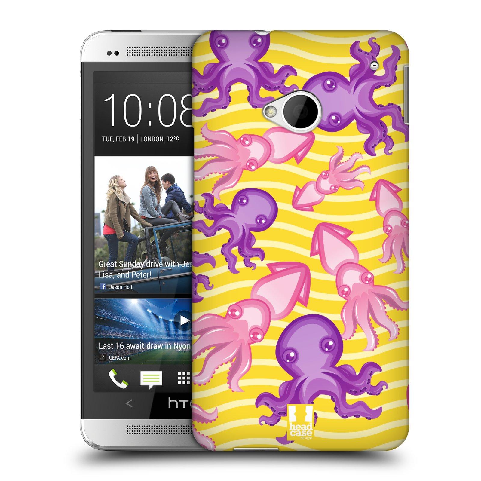 HEAD CASE plastový obal na mobil HTC One (M7) vzor mořský živočich chobotnice
