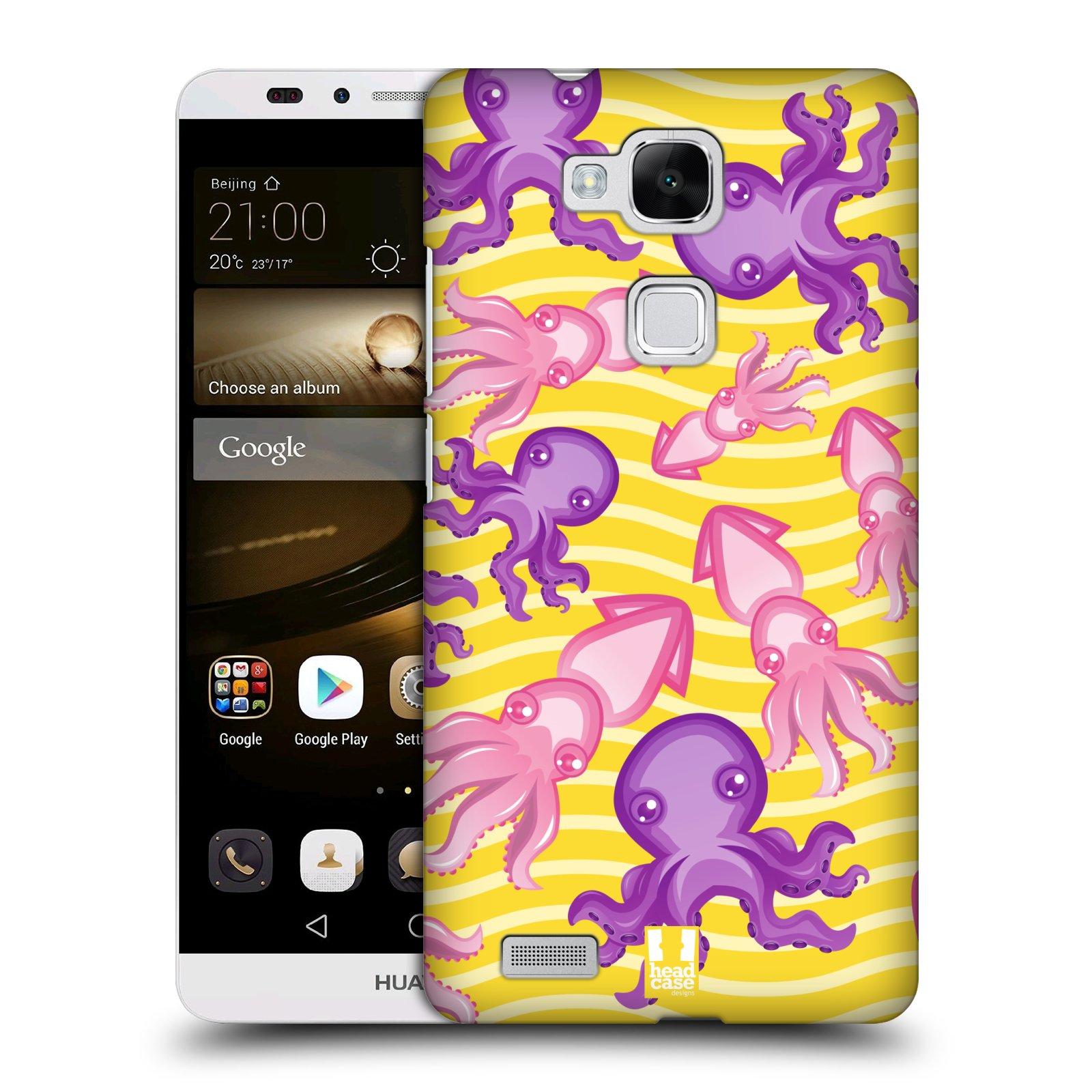 HEAD CASE plastový obal na mobil Huawei Mate 7 vzor mořský živočich chobotnice