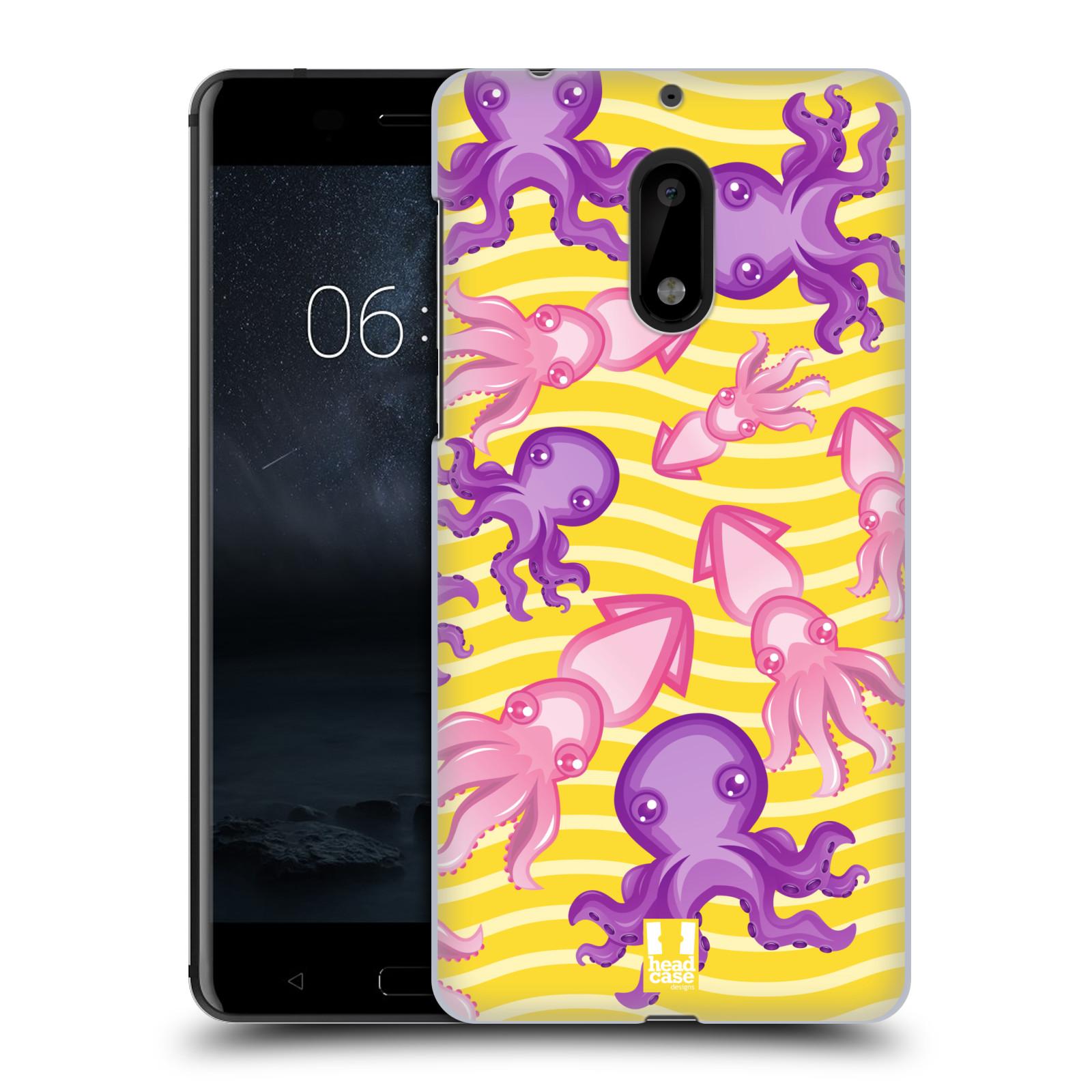 HEAD CASE plastový obal na mobil Nokia 6 vzor mořský živočich chobotnice