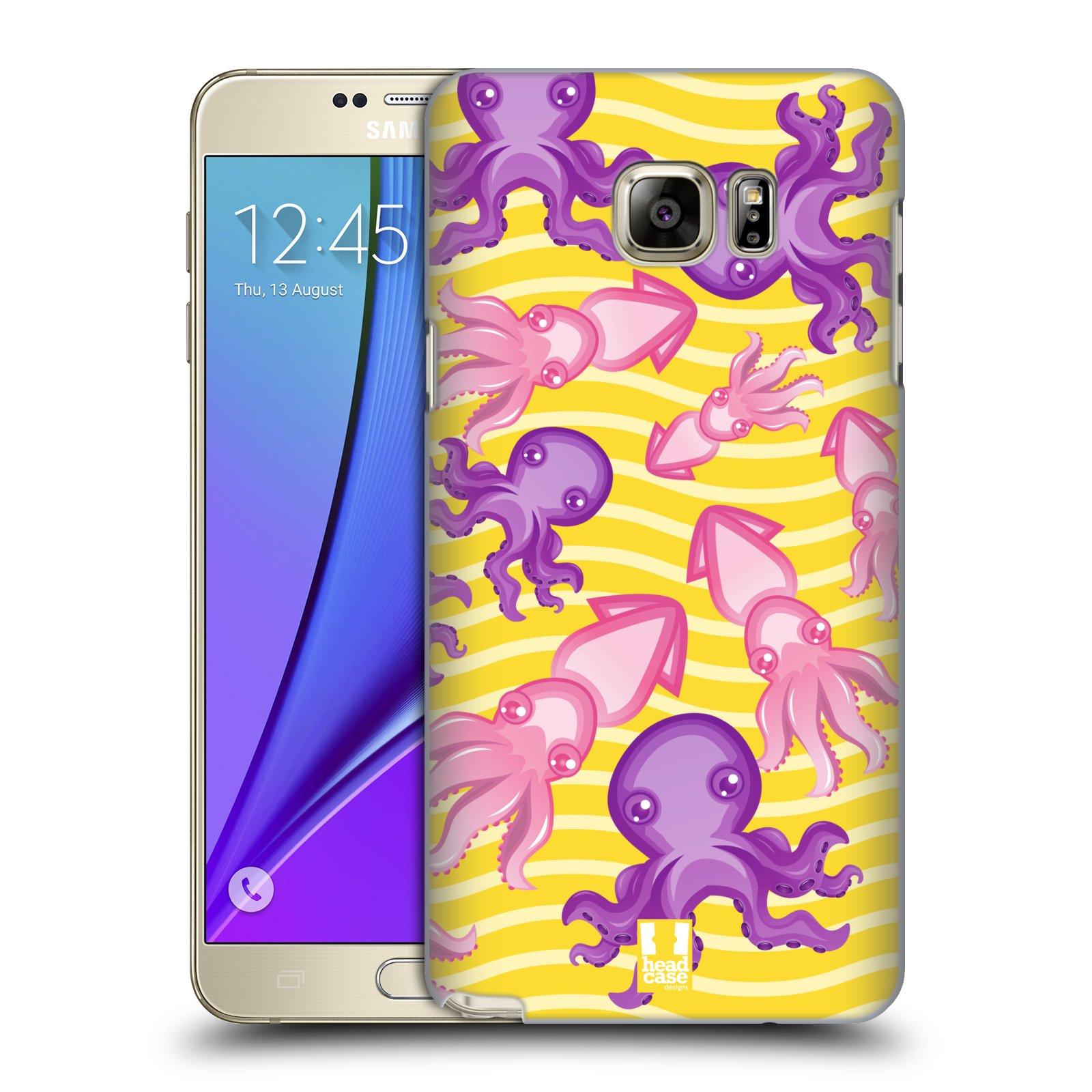 HEAD CASE plastový obal na mobil SAMSUNG Galaxy Note 5 (N920) vzor mořský živočich chobotnice
