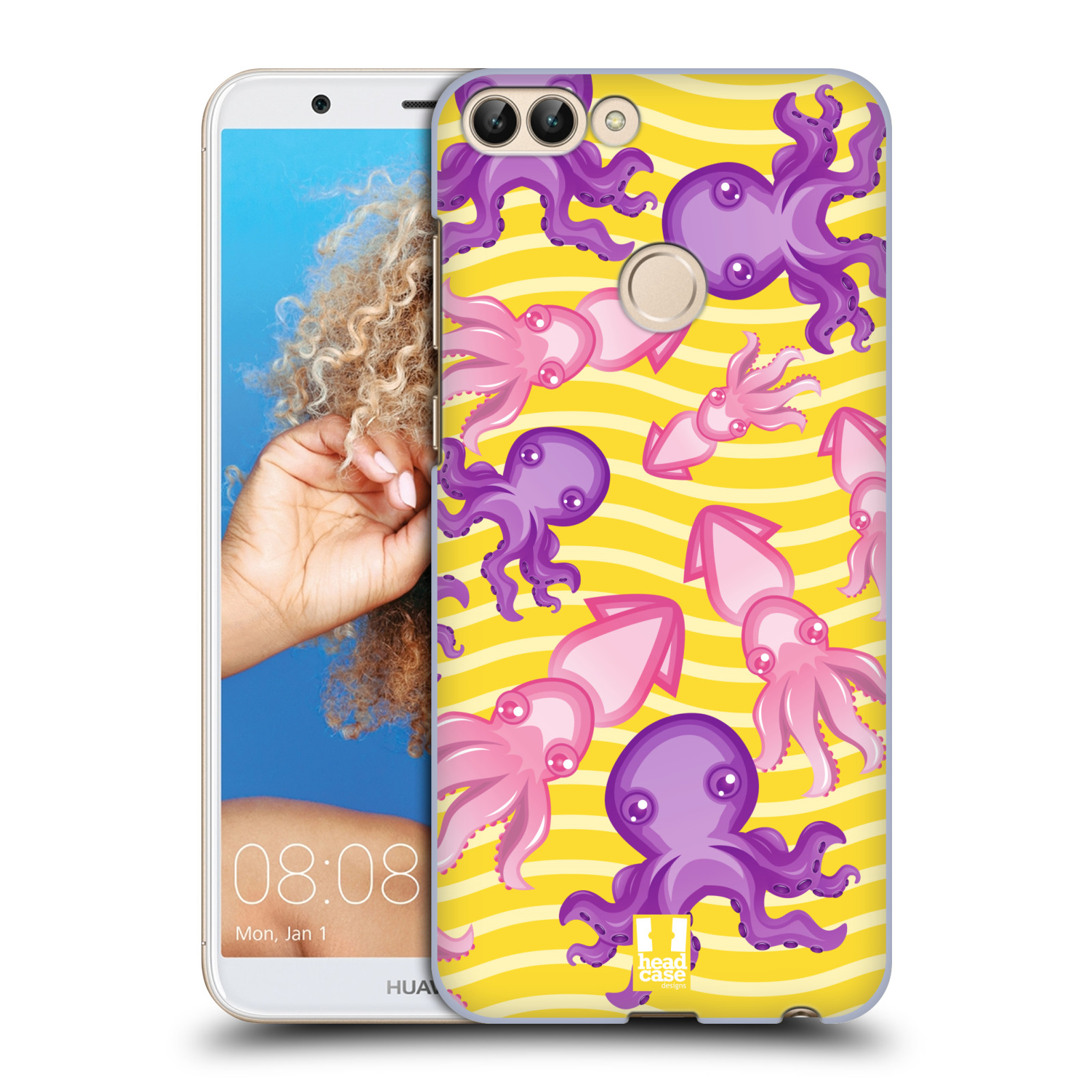 HEAD CASE plastový obal na mobil Huawei P Smart vzor mořský živočich chobotnice