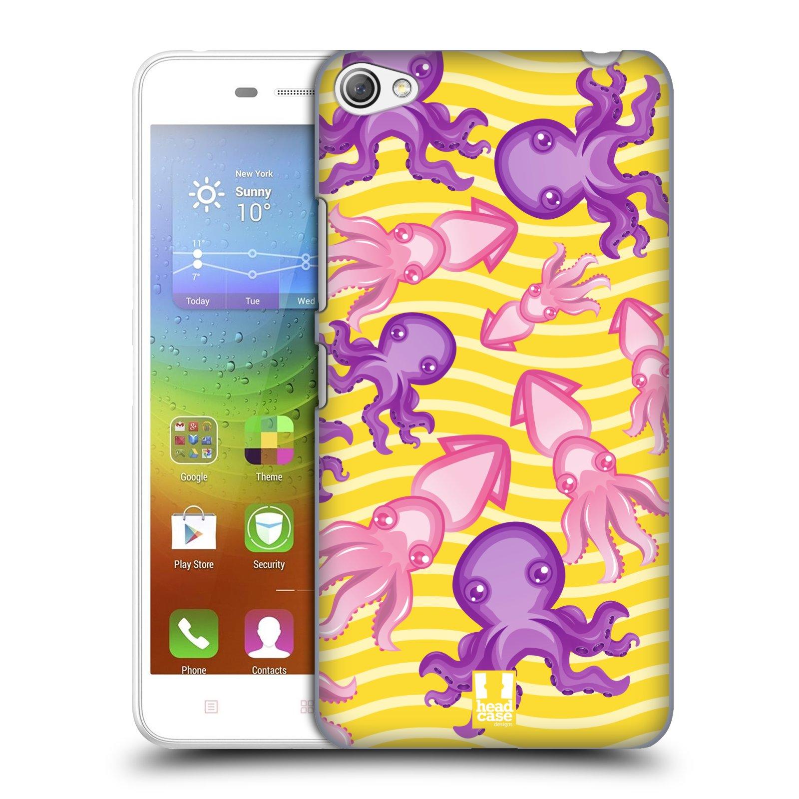 HEAD CASE pevný plastový obal na mobil LENOVO S60 / LENOVO S60 DUAL SIM vzor mořský živočich chobotnice